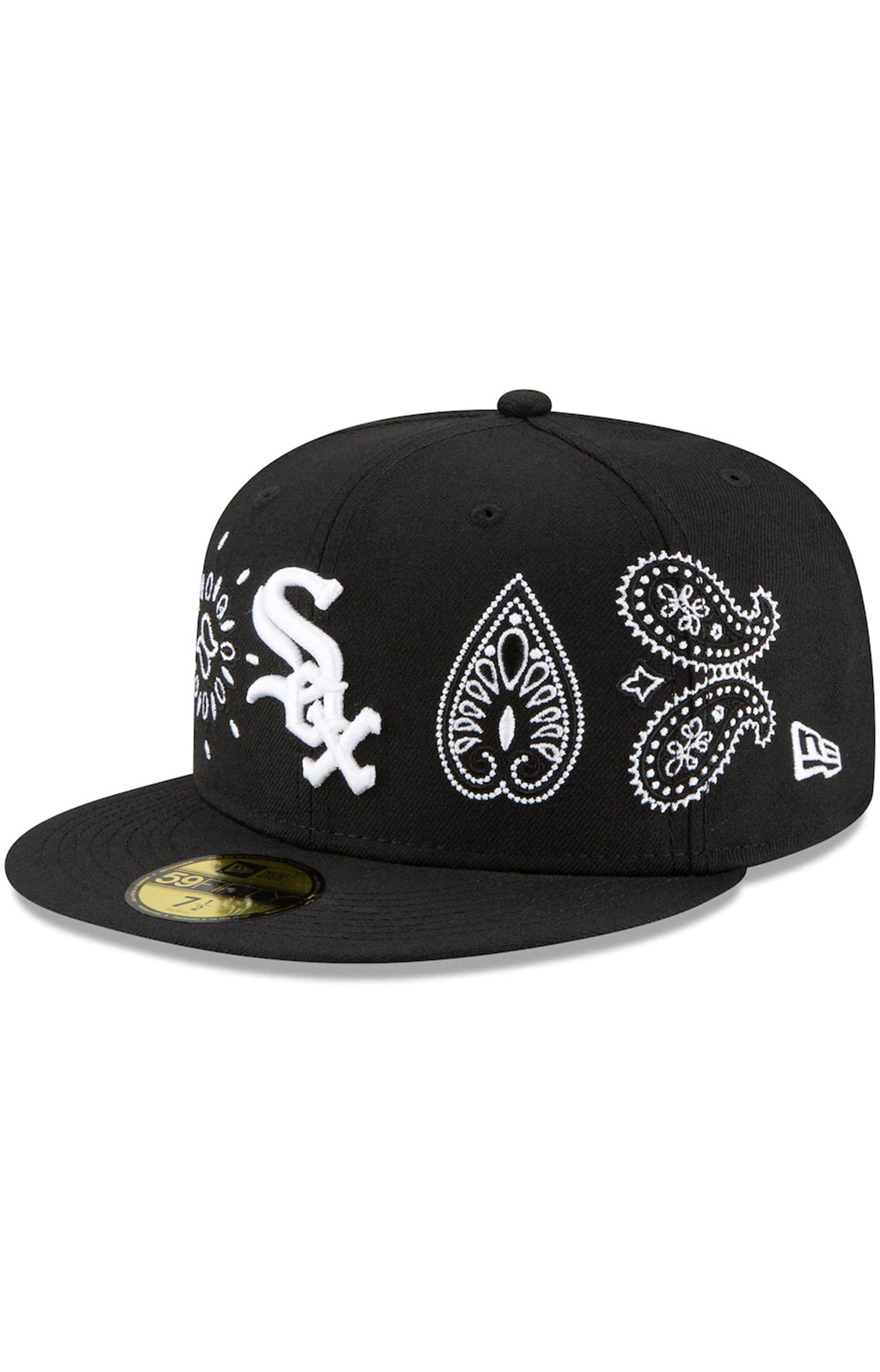 Chicago White Sox Paisley Elements 59Fifty Fitted Hat - Black