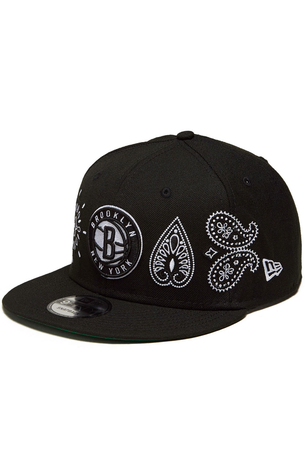 Brooklyn Nets Paisley Elements 59Fifty Fitted Hat - Black