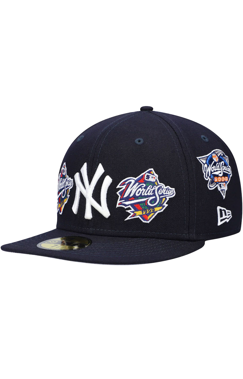 New York Yankees World Series Patch 59Fifty Fitted Hat - Navy