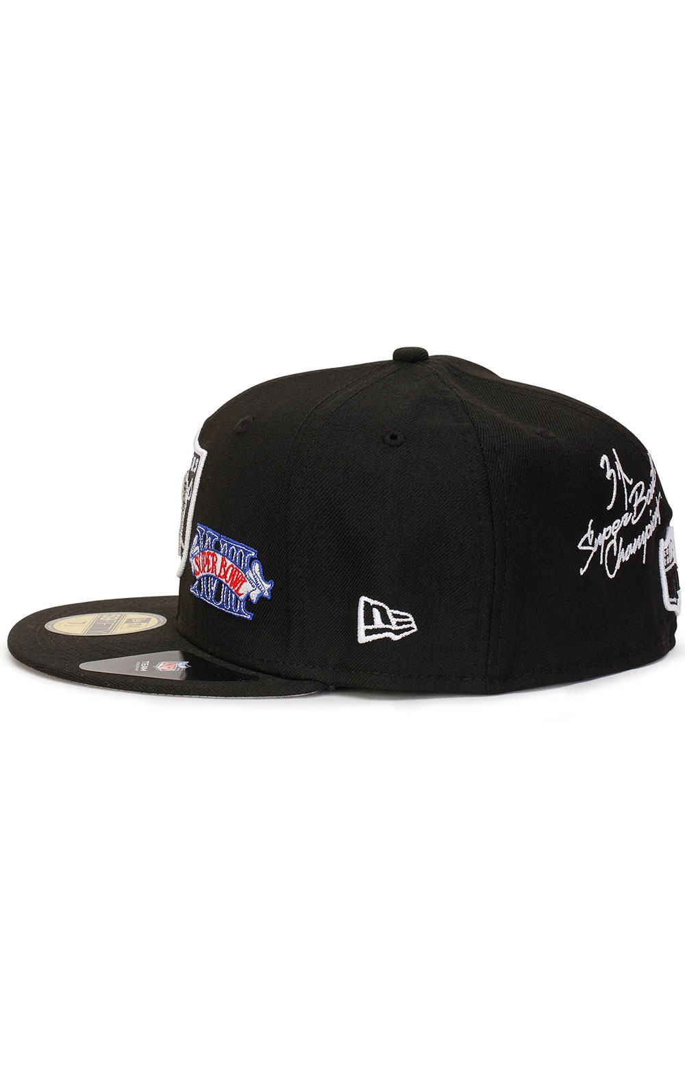 Las Vegas Raiders Super Bowl Patch 59Fifty Fitted Hat - Black  4
