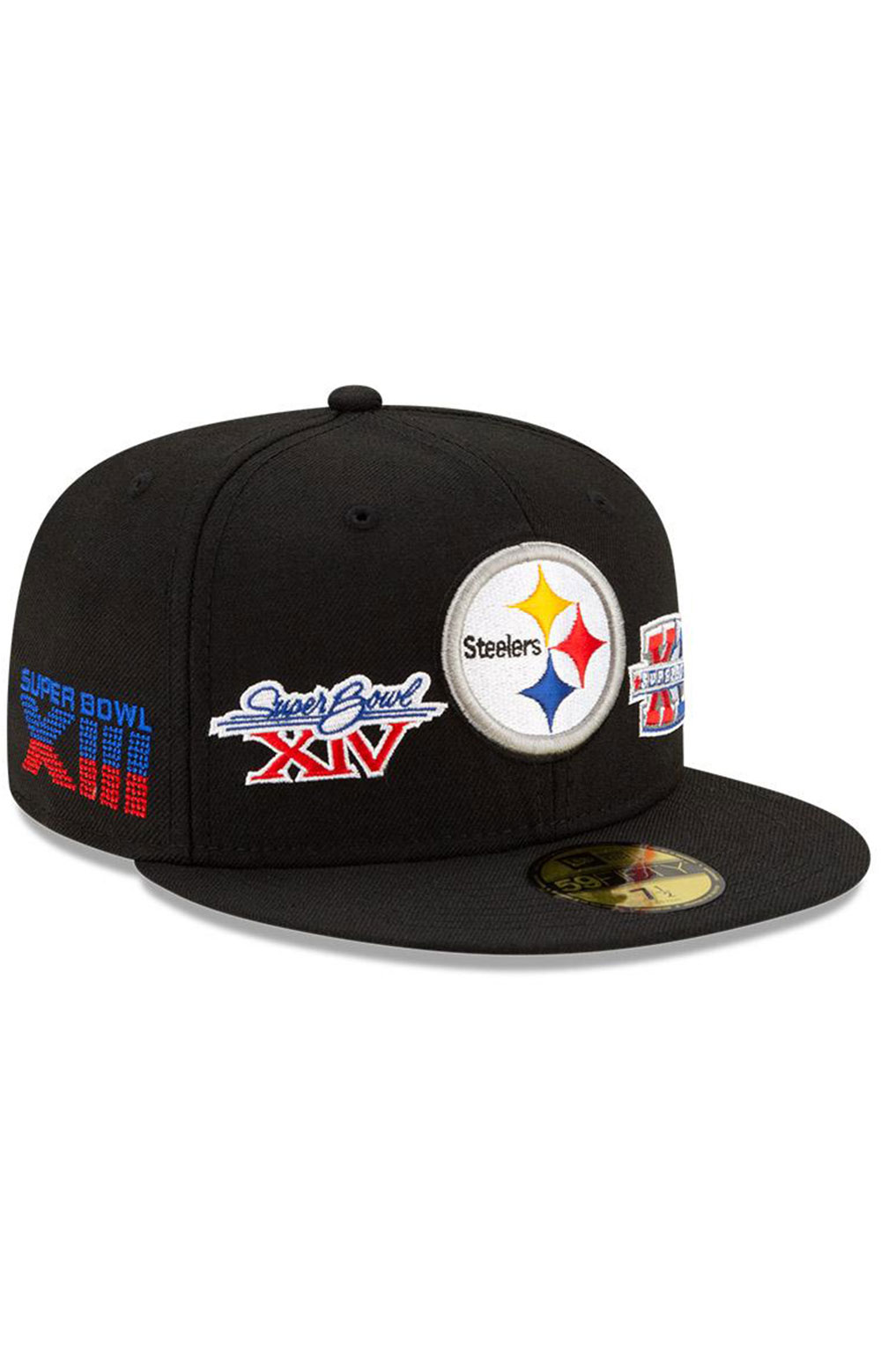 Pittsburgh Steelers Super Bowl Patch 59Fifty Fitted Hat - Black  2