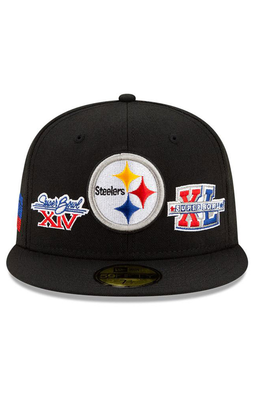Pittsburgh Steelers Super Bowl Patch 59Fifty Fitted Hat - Black  3
