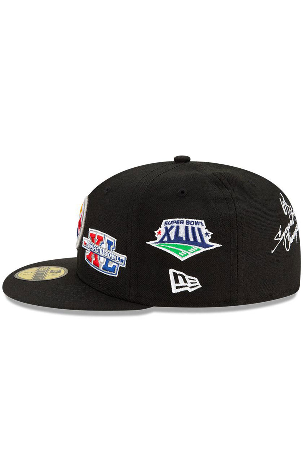Pittsburgh Steelers Super Bowl Patch 59Fifty Fitted Hat - Black  4