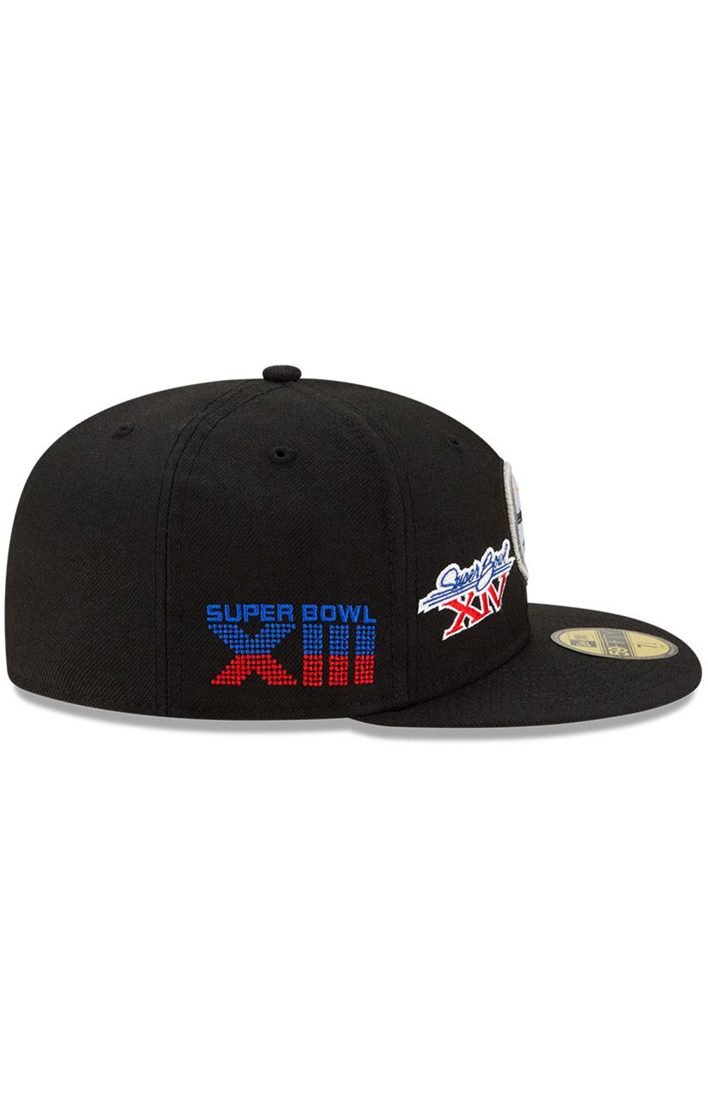 Pittsburgh Steelers Super Bowl Patch 59Fifty Fitted Hat - Black  6