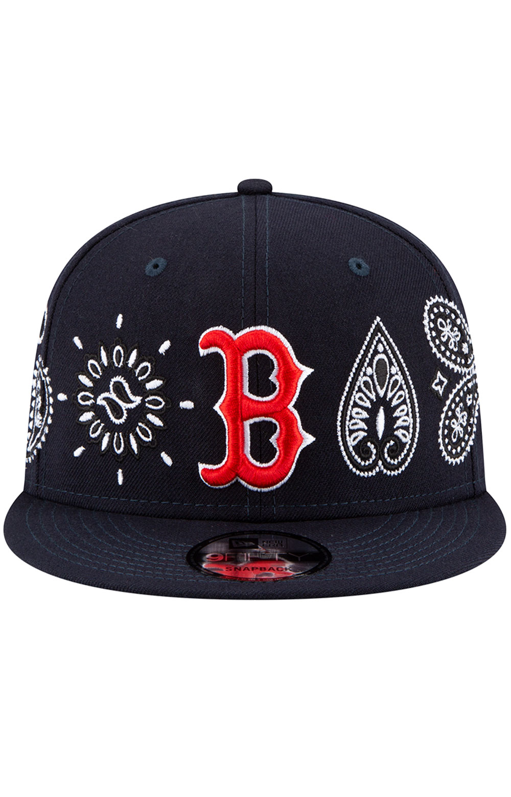 Boston Red Sox Paisley Elements 9Fifty Snap-Back Hat - Black 2