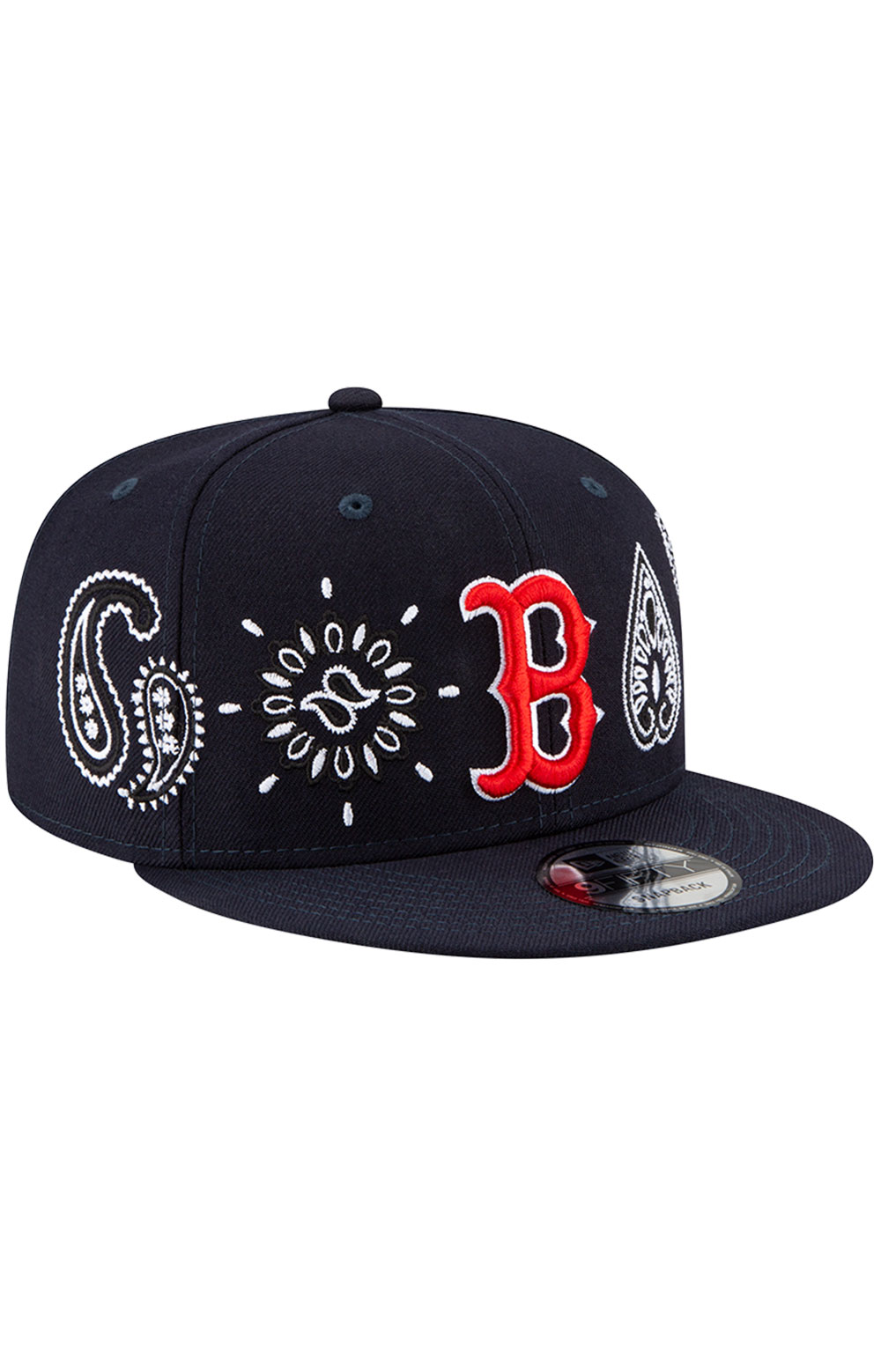 Boston Red Sox Paisley Elements 9Fifty Snap-Back Hat - Black 3