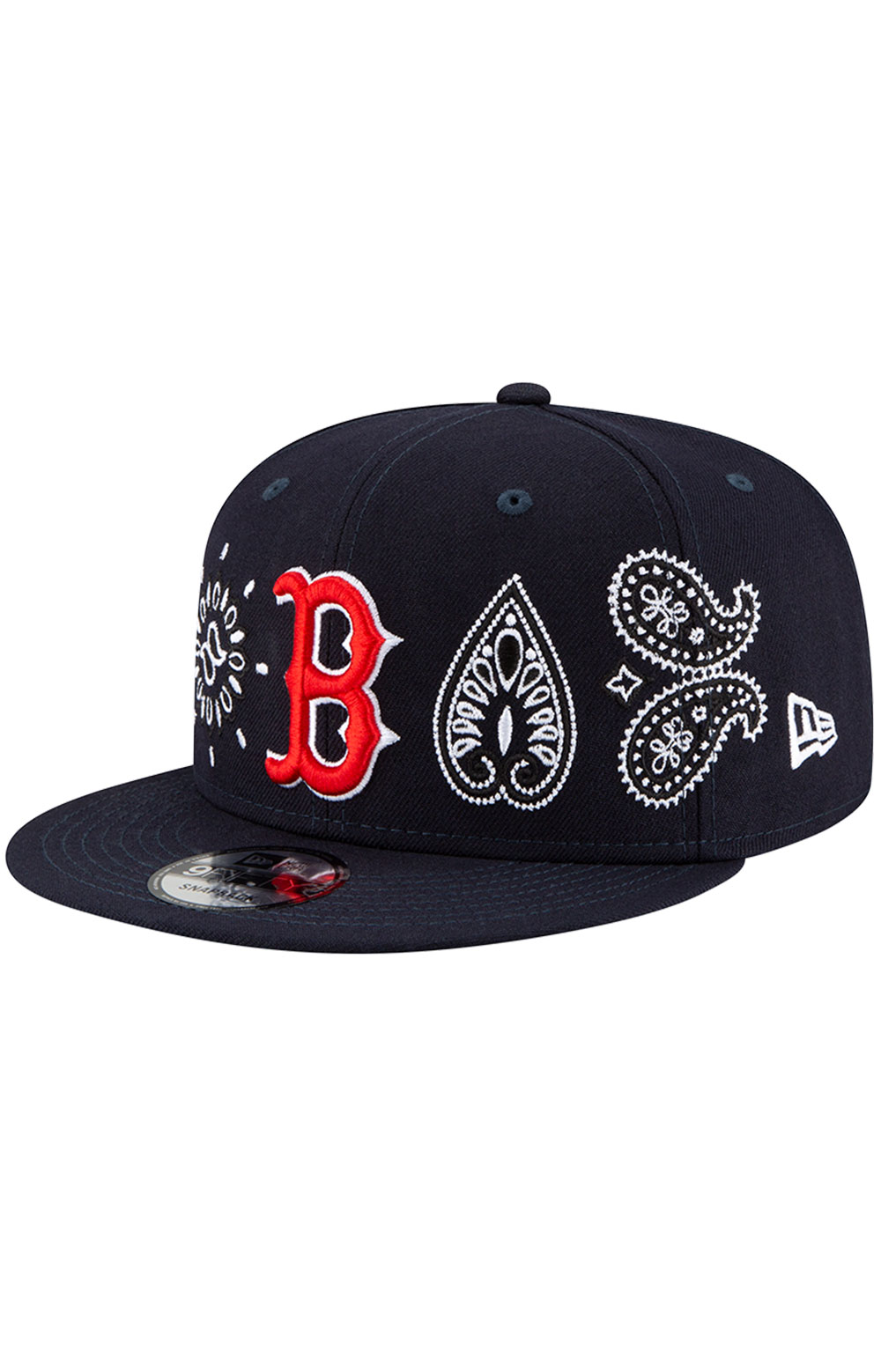 Boston Red Sox Paisley Elements 9Fifty Snap-Back Hat - Black