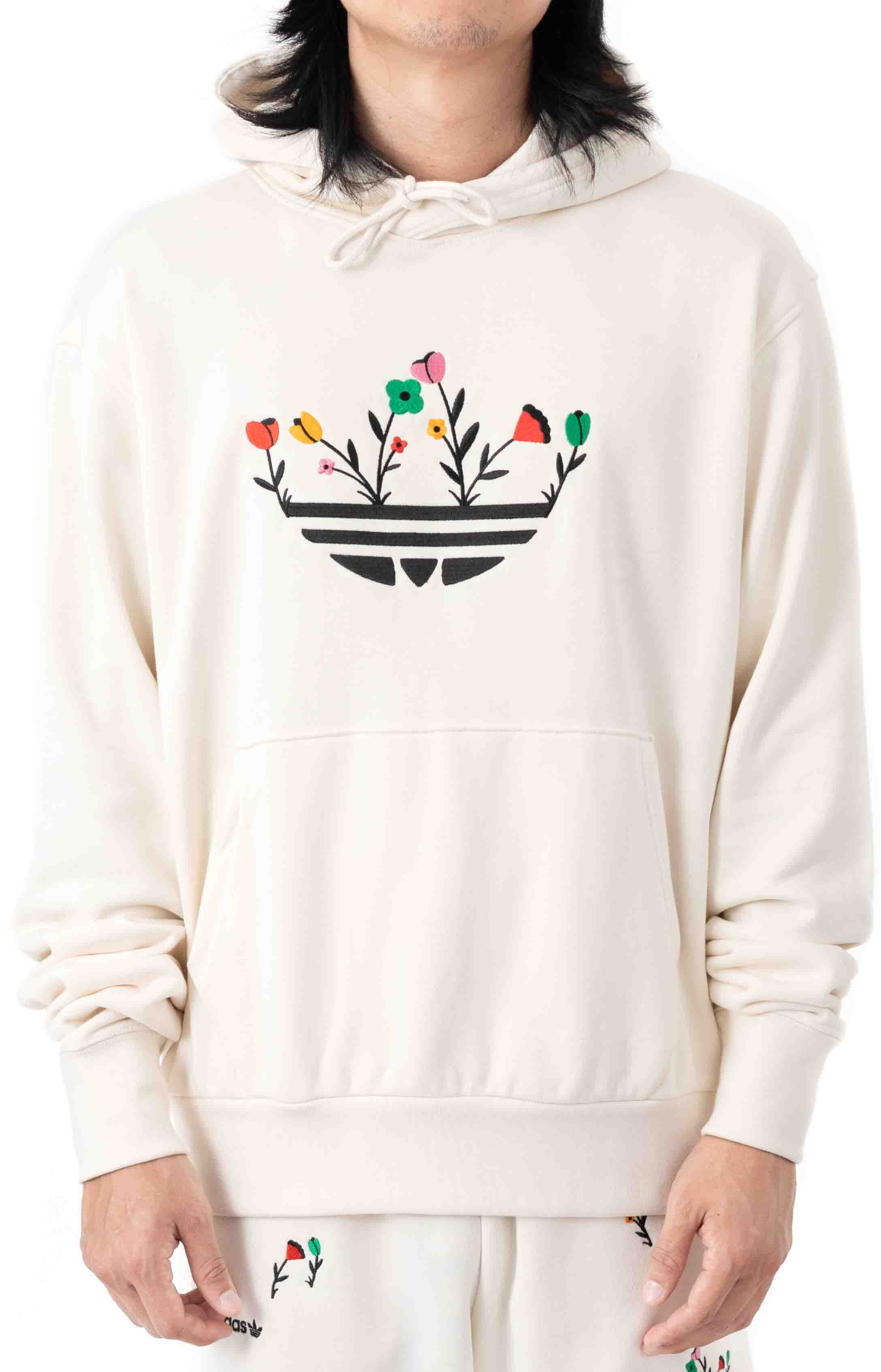 Floral Trefoil Pullover Hoodie - Non Dyed