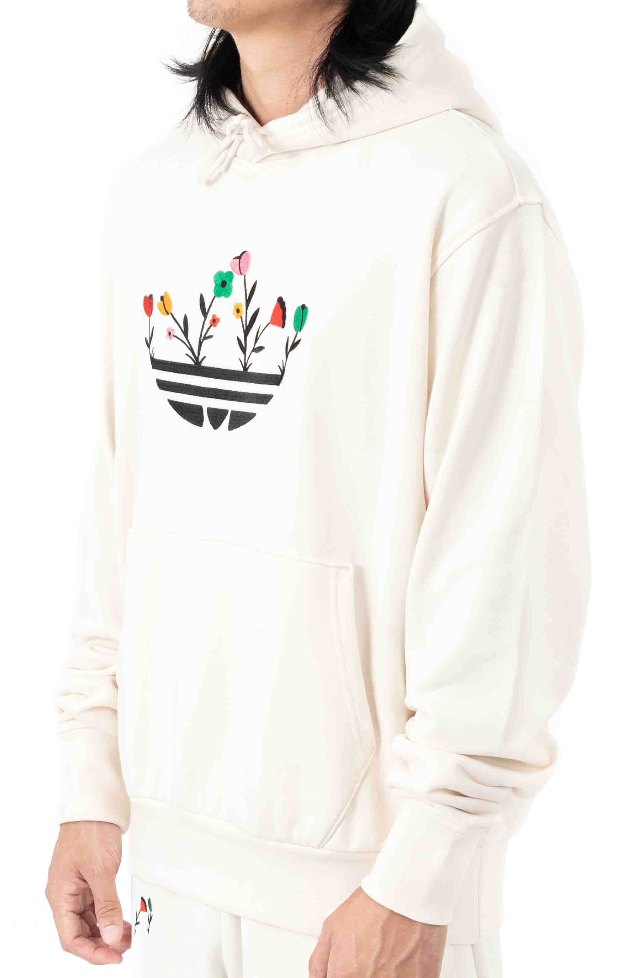 Floral Trefoil Pullover Hoodie - Non Dyed 2