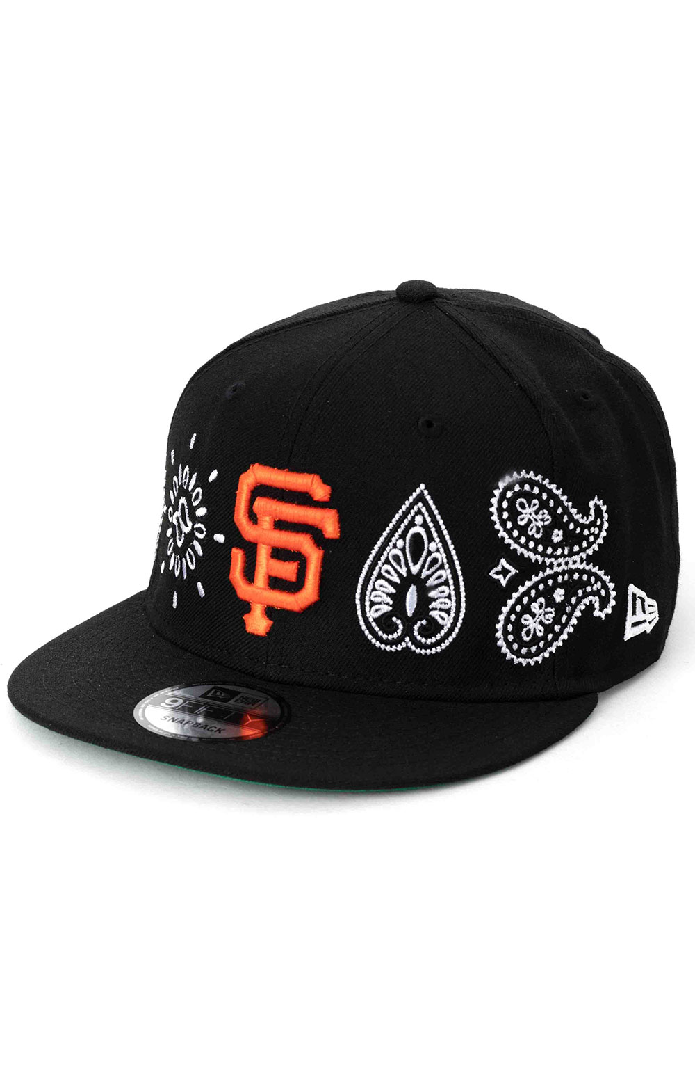 SF Giants Paisley Elements 9Fifty Snap-Back Hat - Black