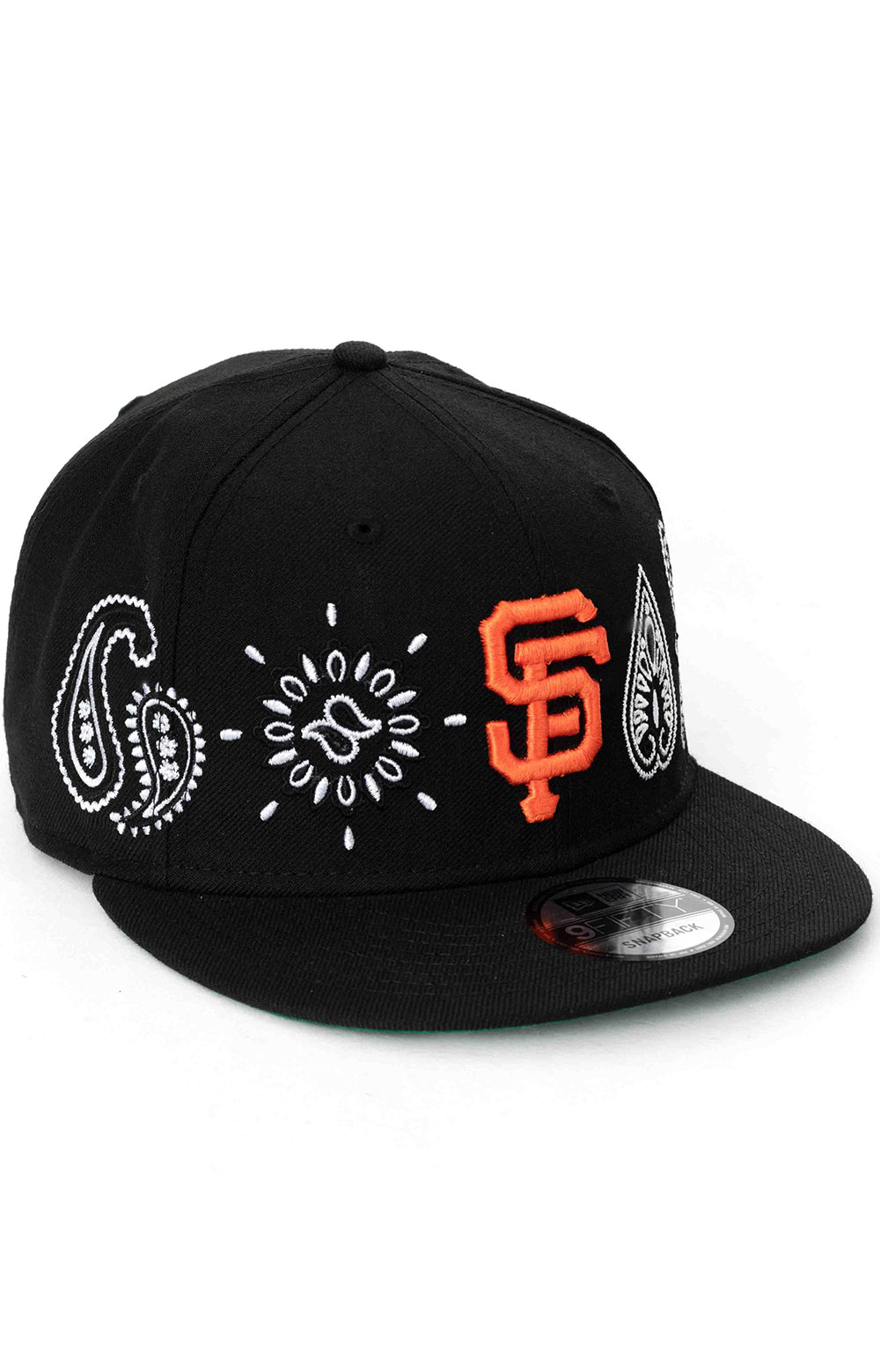 SF Giants Paisley Elements 9Fifty Snap-Back Hat - Black 3