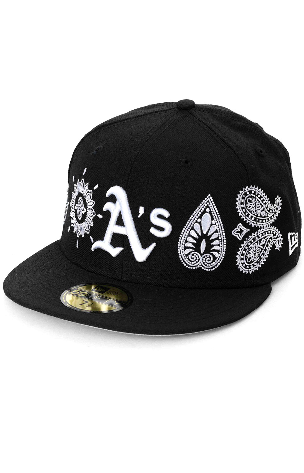 Oakland Athletics Paisley Elements 59Fifty Fitted Hat - Black