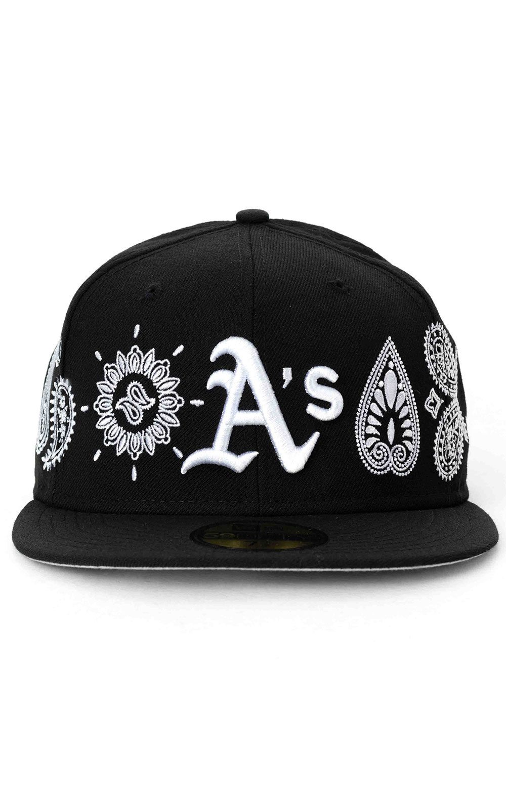 Oakland Athletics Paisley Elements 59Fifty Fitted Hat - Black  2