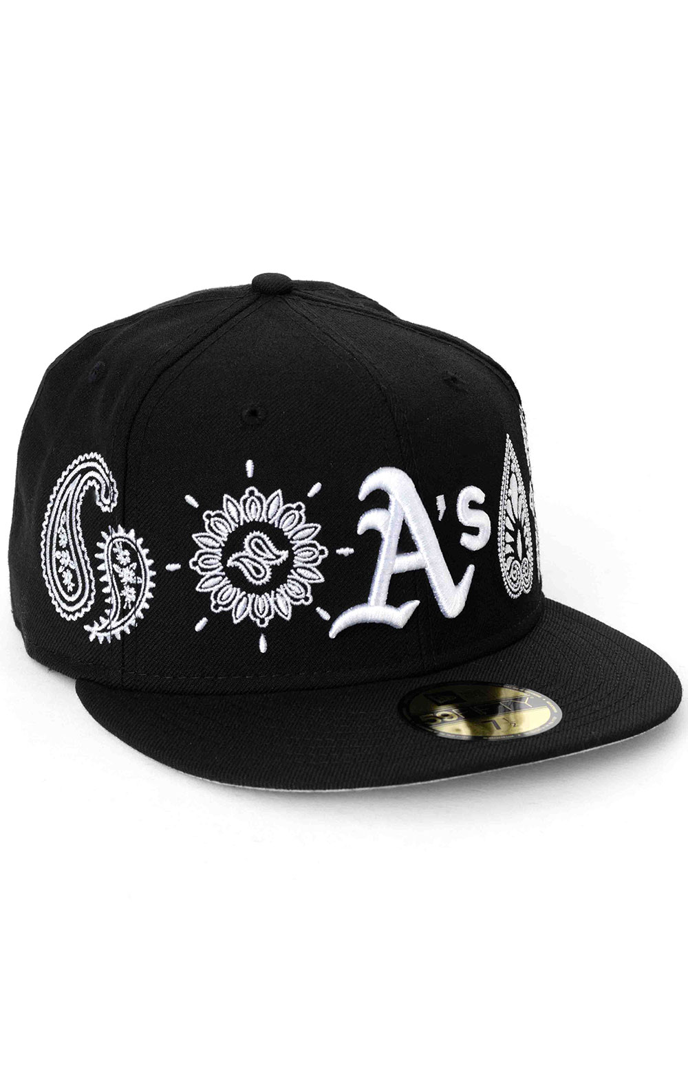Oakland Athletics Paisley Elements 59Fifty Fitted Hat - Black  3