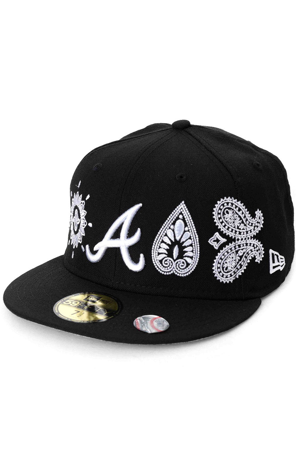 Atlanta Braves Paisley Elements 59Fifty Fitted Hat - Black