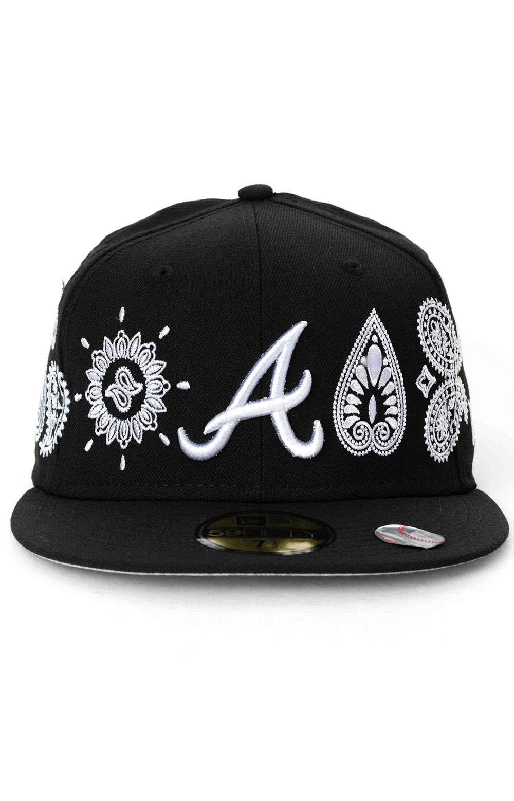 Atlanta Braves Paisley Elements 59Fifty Fitted Hat - Black  2