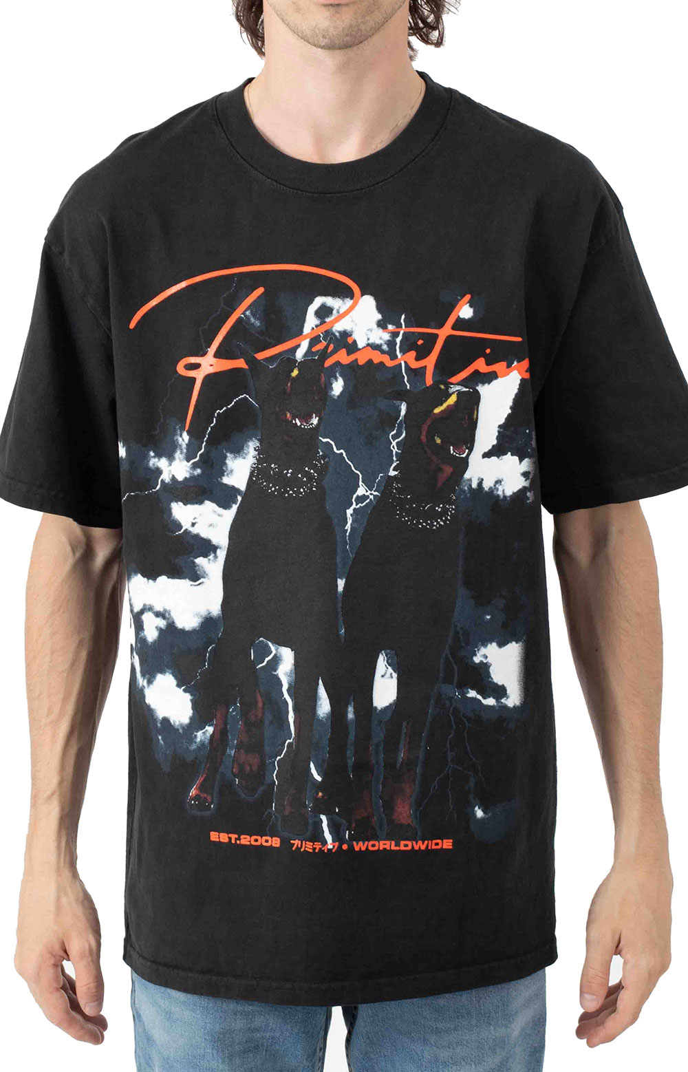 Friends Washed T-Shirt - Black
