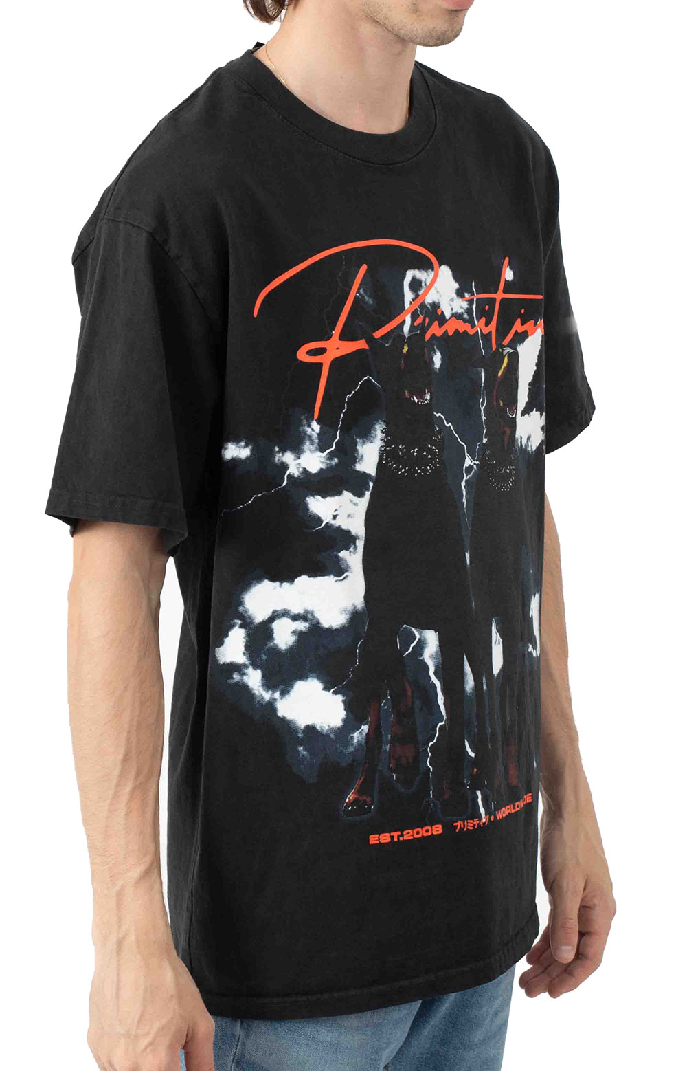 Friends Washed T-Shirt - Black  2