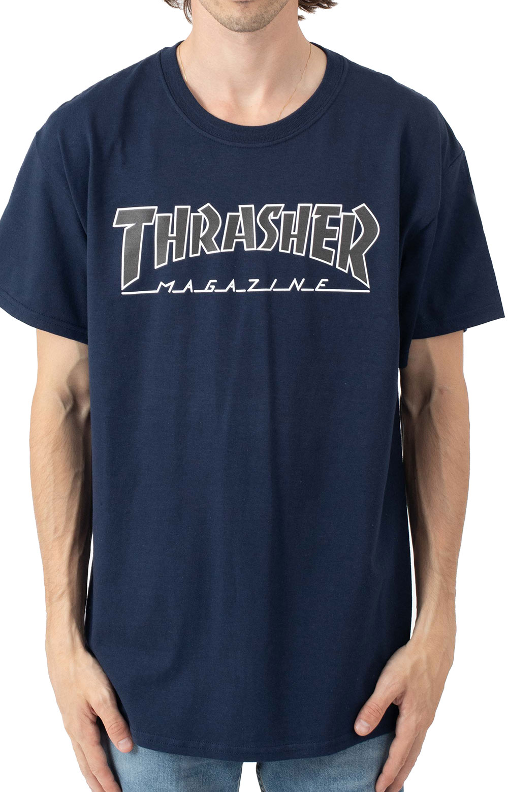 Outlined T-Shirt - Navy/Black