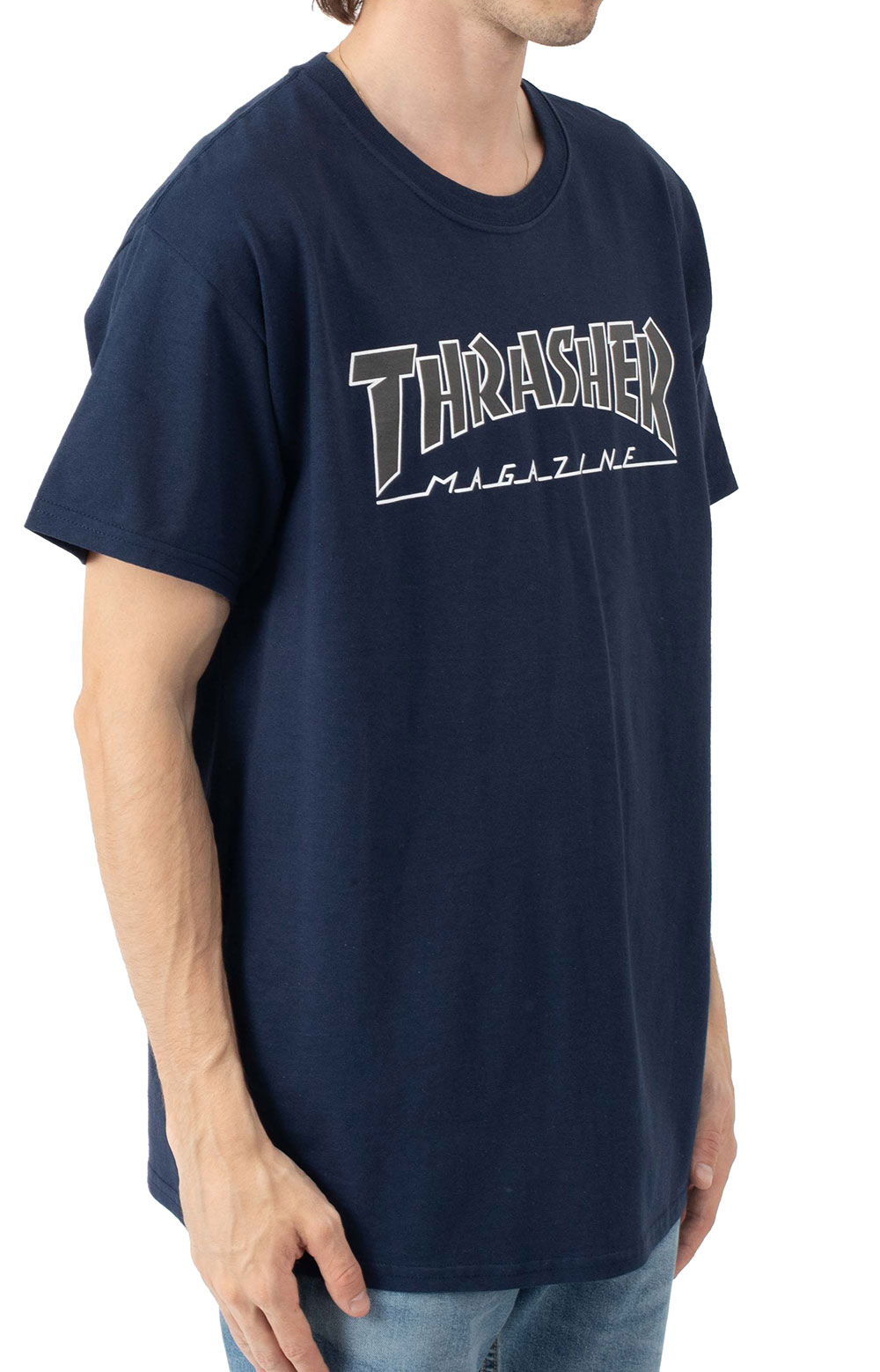 Outlined T-Shirt - Navy/Black 2