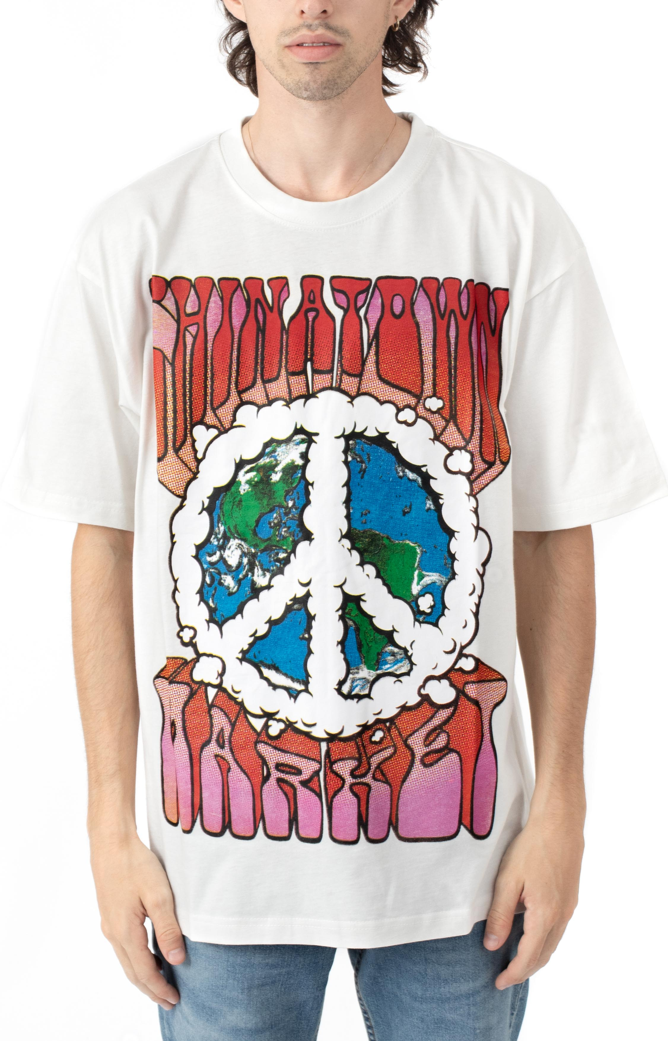 Peace On Earth Clouds T-Shirt - Cream