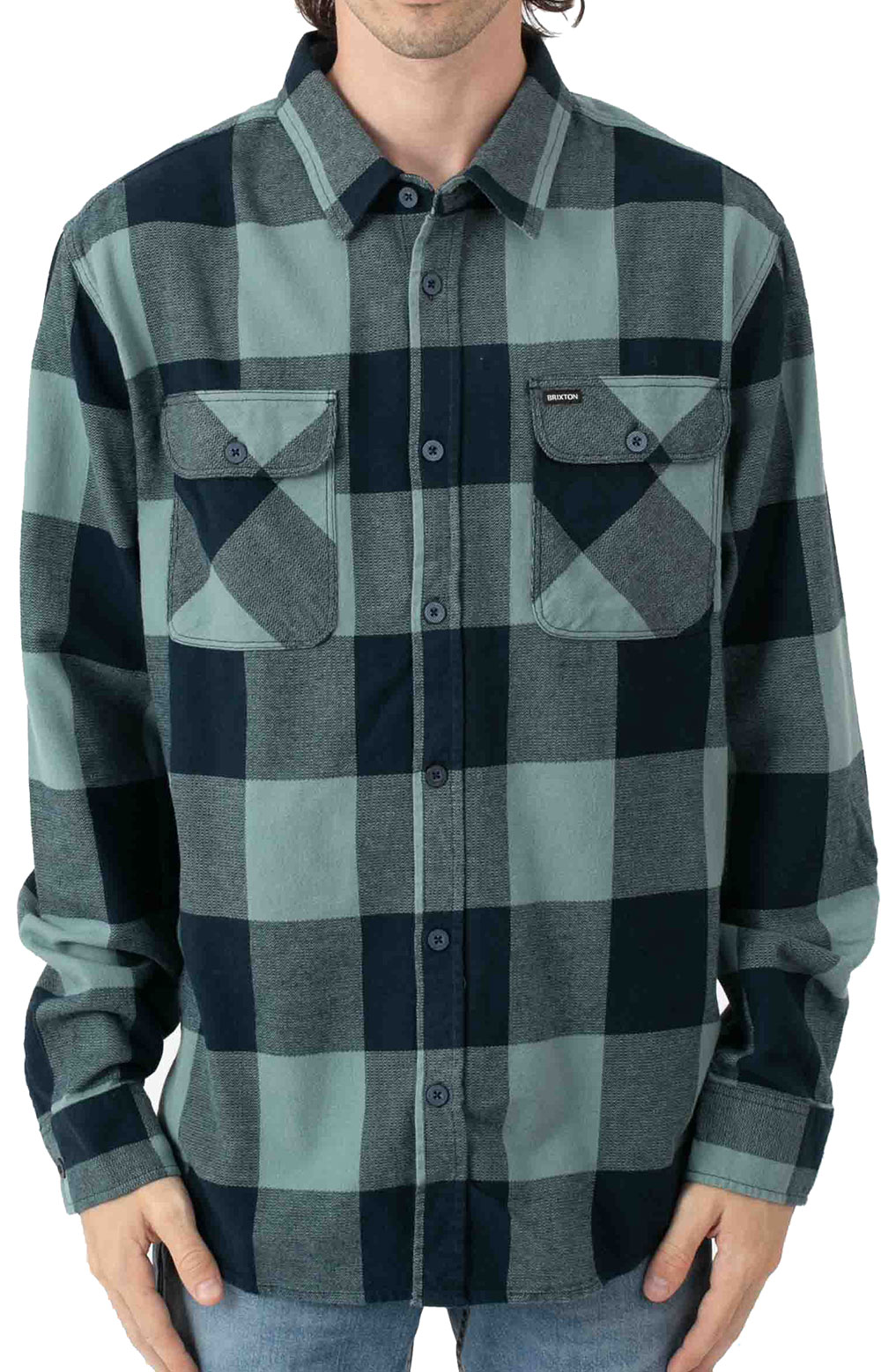 Bowery L/S Flannel - Washed Navy/Ocean