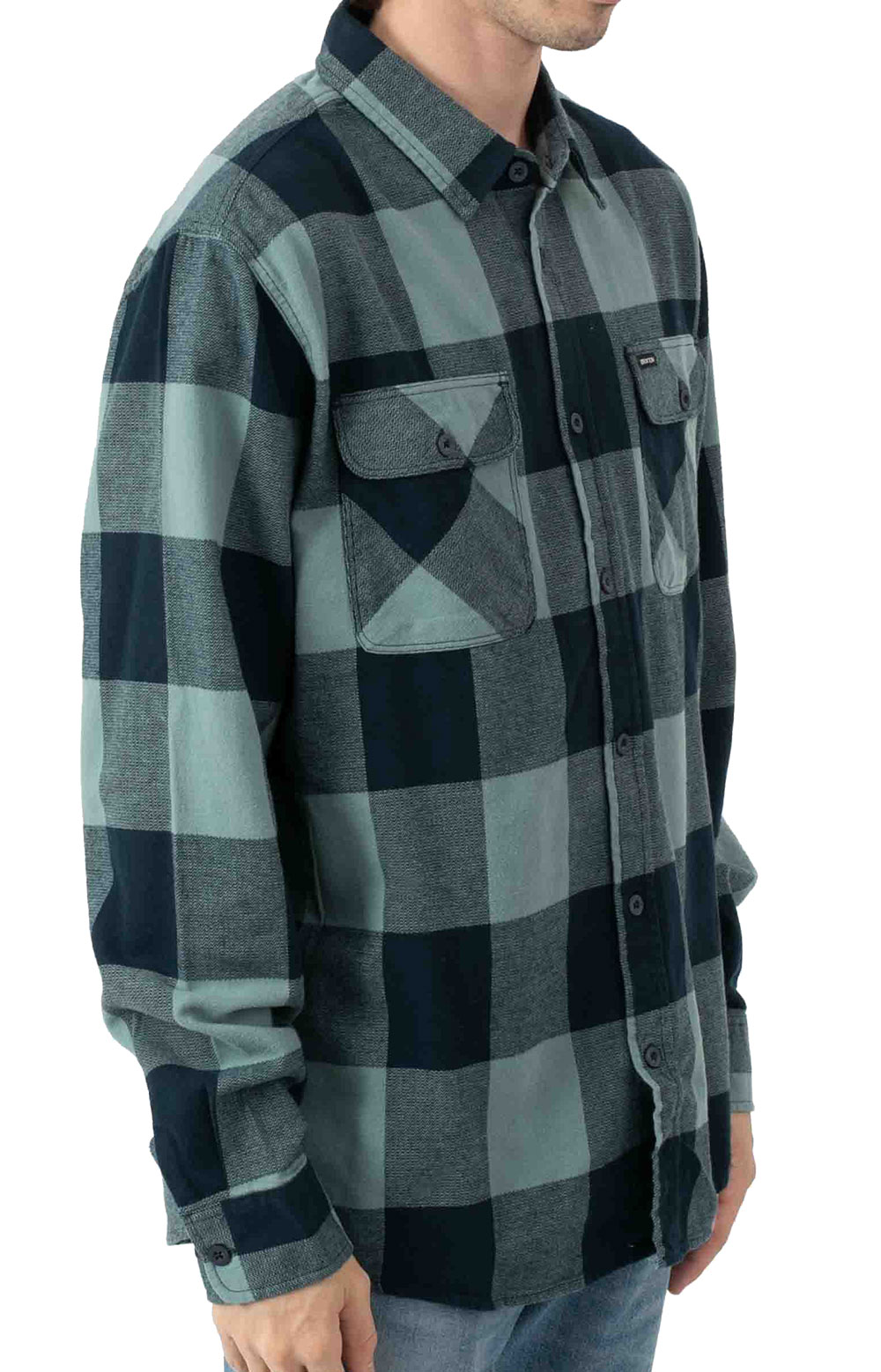 Bowery L/S Flannel - Washed Navy/Ocean  2
