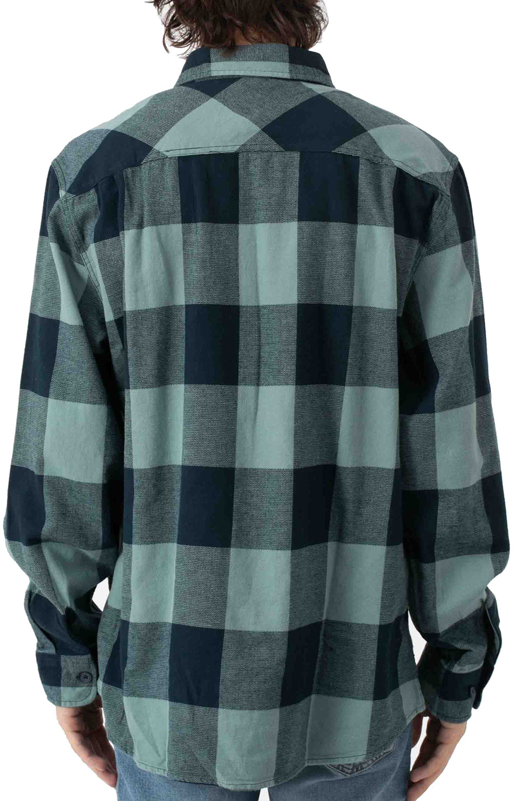 Bowery L/S Flannel - Washed Navy/Ocean  3