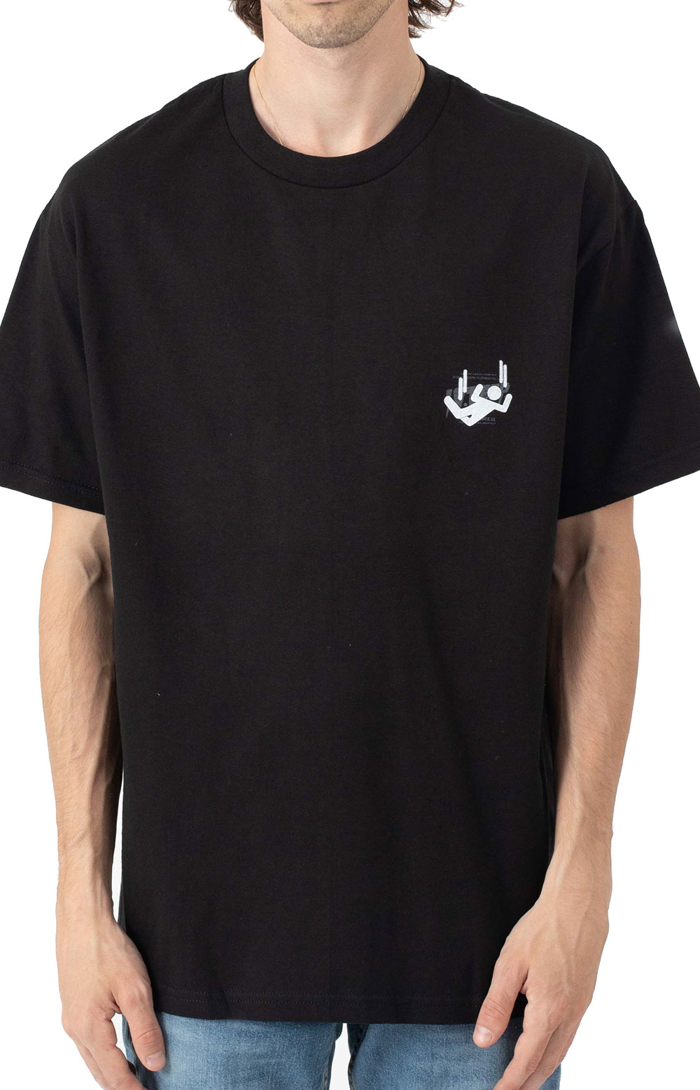 Log In Drop Out T-Shirt - Black 2