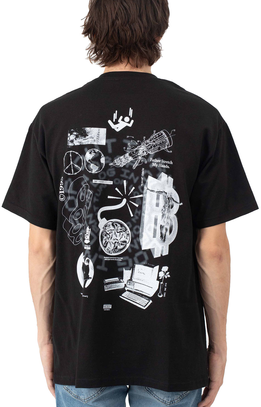 Log In Drop Out T-Shirt - Black