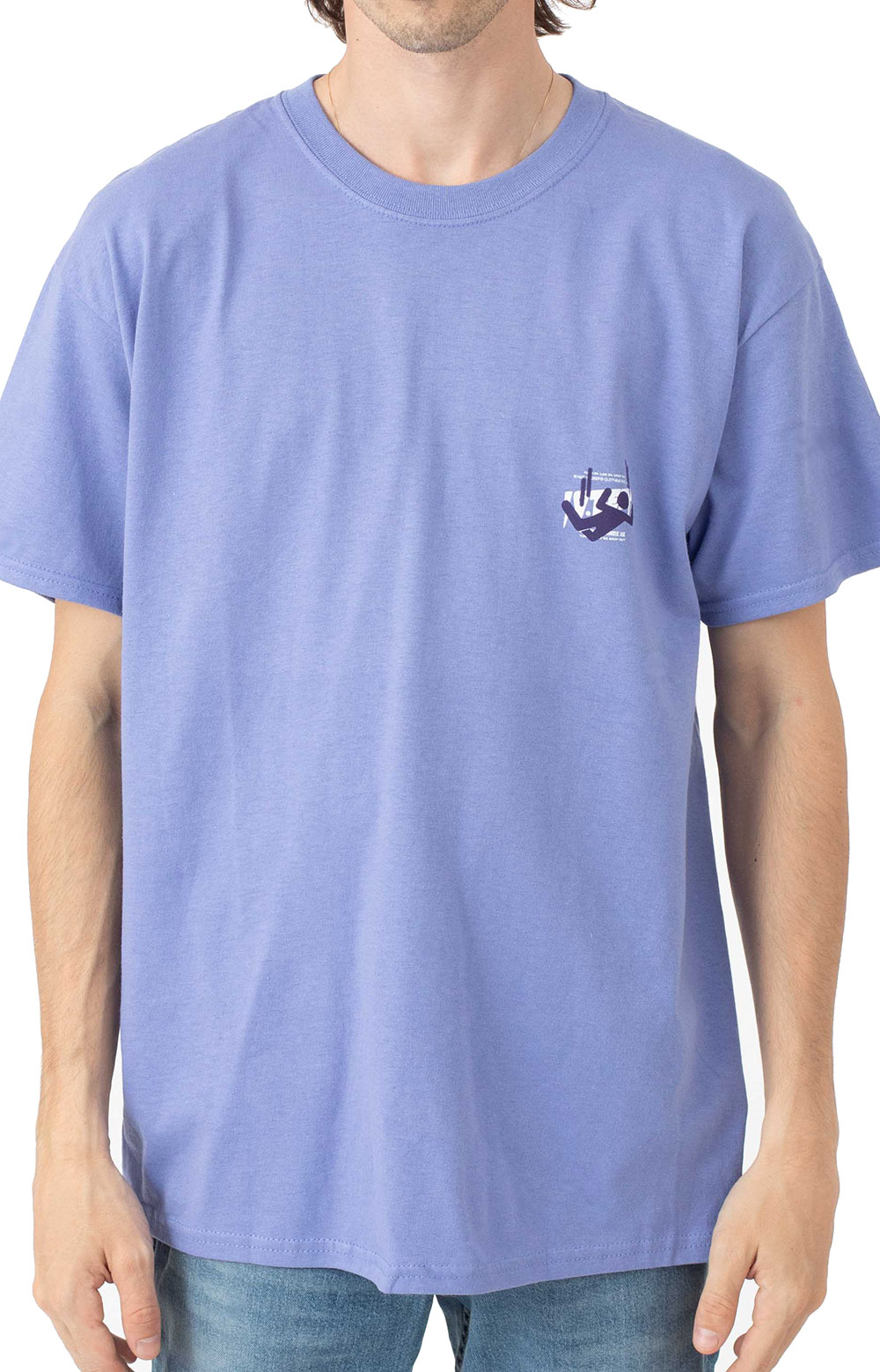 Log In Drop Out T-Shirt - Purple  2