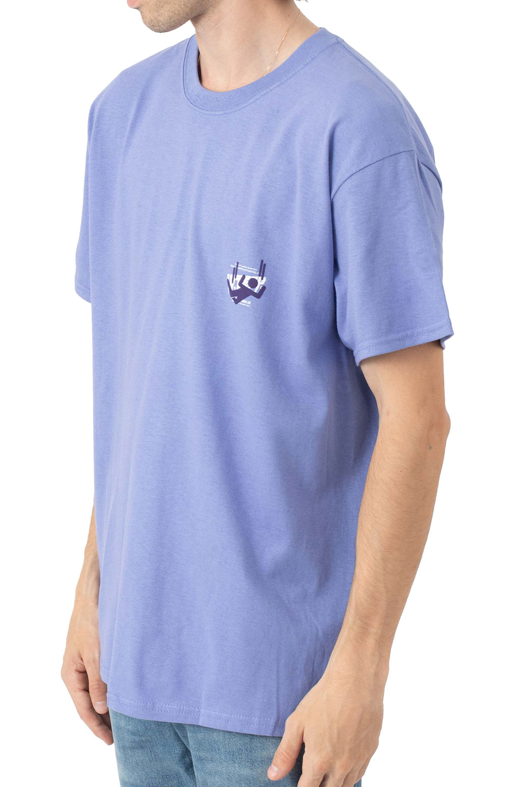 Log In Drop Out T-Shirt - Purple  3