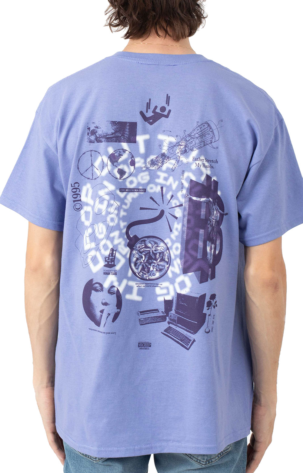 Log In Drop Out T-Shirt - Purple