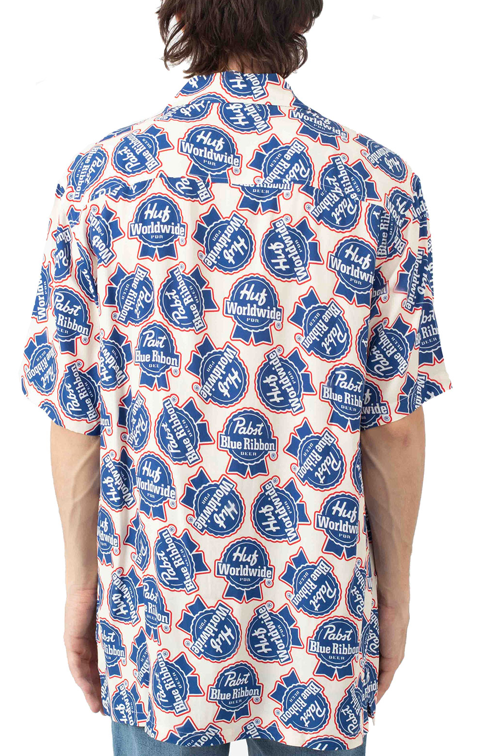 Rayon S/S Woven Button-Up Shirt - Natural  3