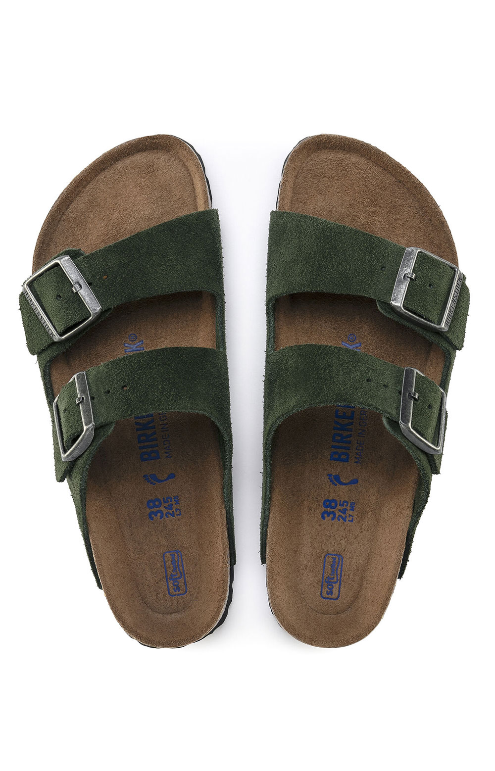(1018143) Arizona Soft Footbed Sandals - Mountain View Green  6