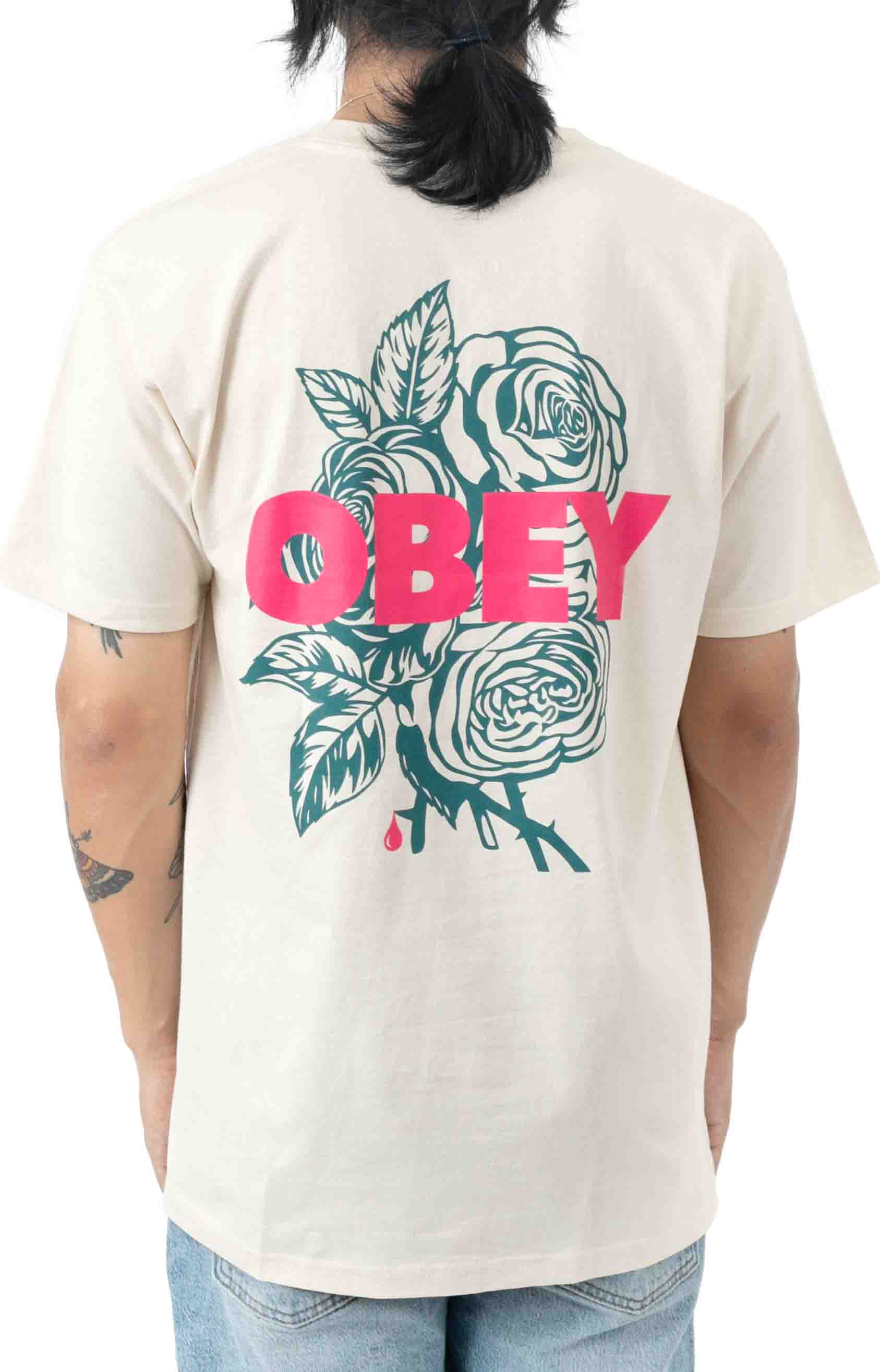 Blood and Roses T-Shirt - Cream