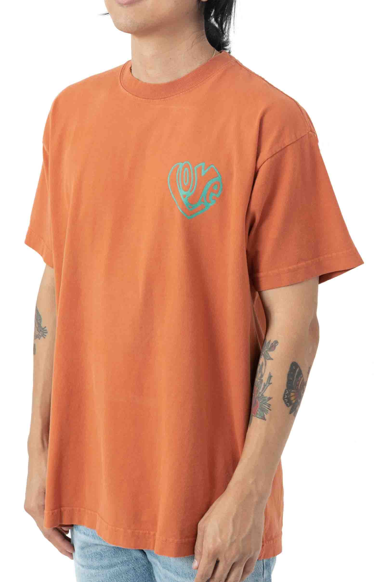 Love Over Hate T-Shirt - Ginger  3