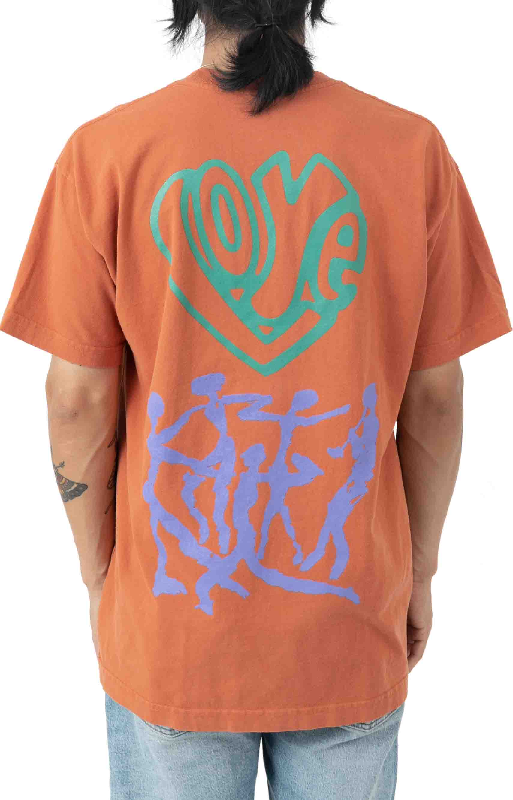 Love Over Hate T-Shirt - Ginger
