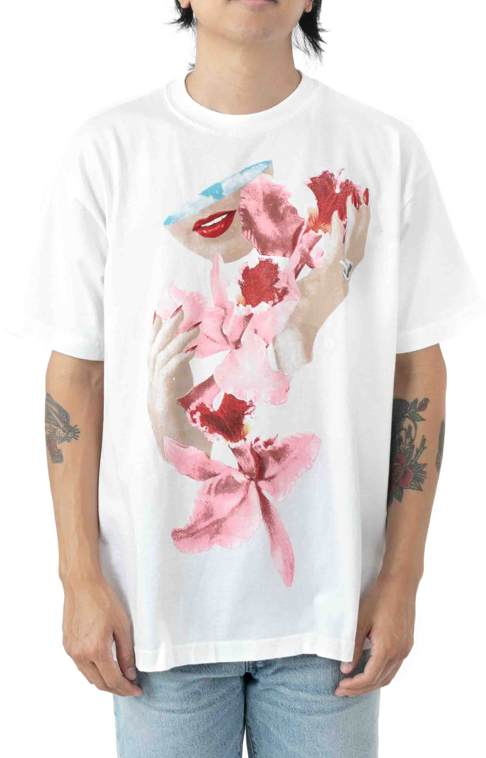 Obey Orchid T-Shirt - White