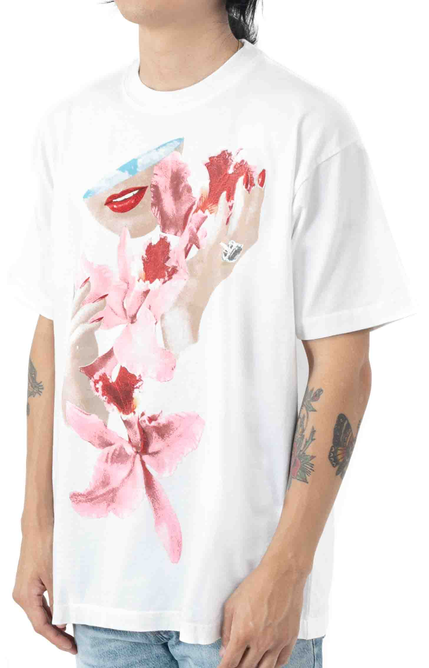 Obey Orchid T-Shirt - White  2