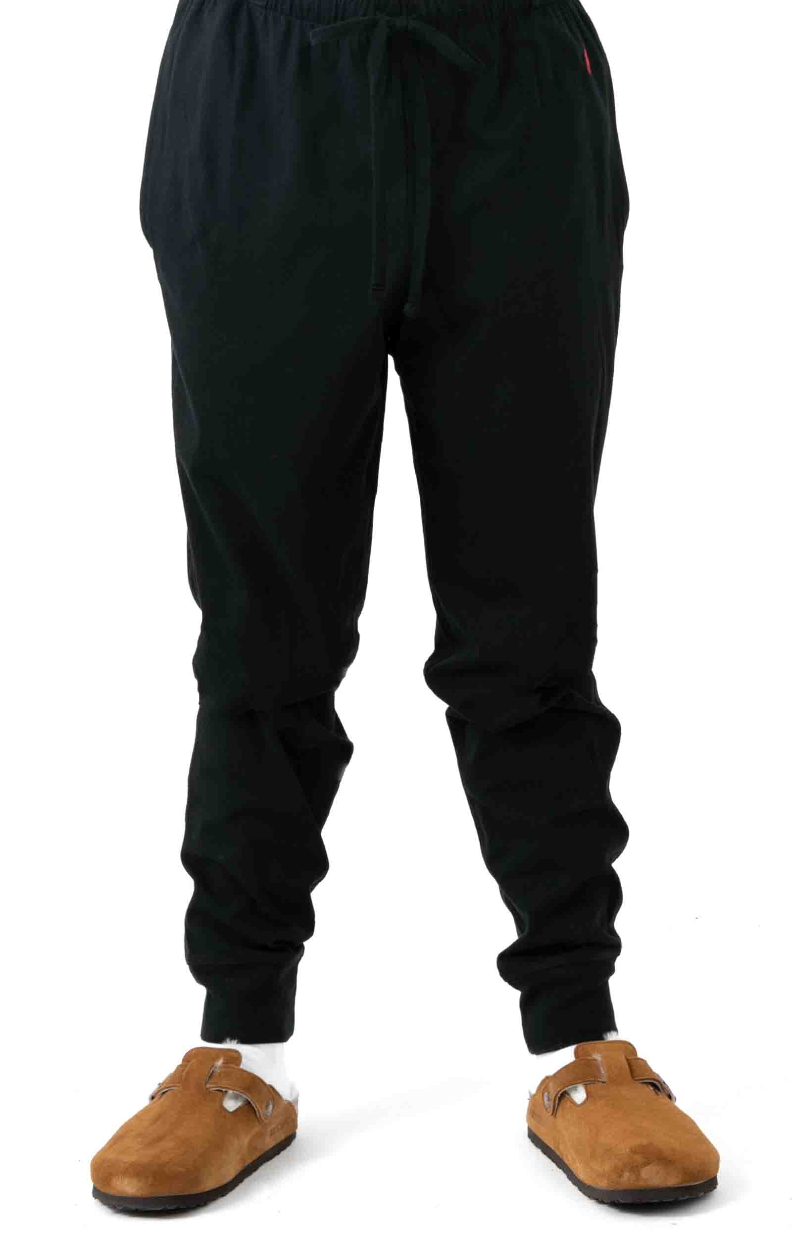 (L204PB) Relaxed Fit Jogger Cuff Sleep Pant - Polo Black  2
