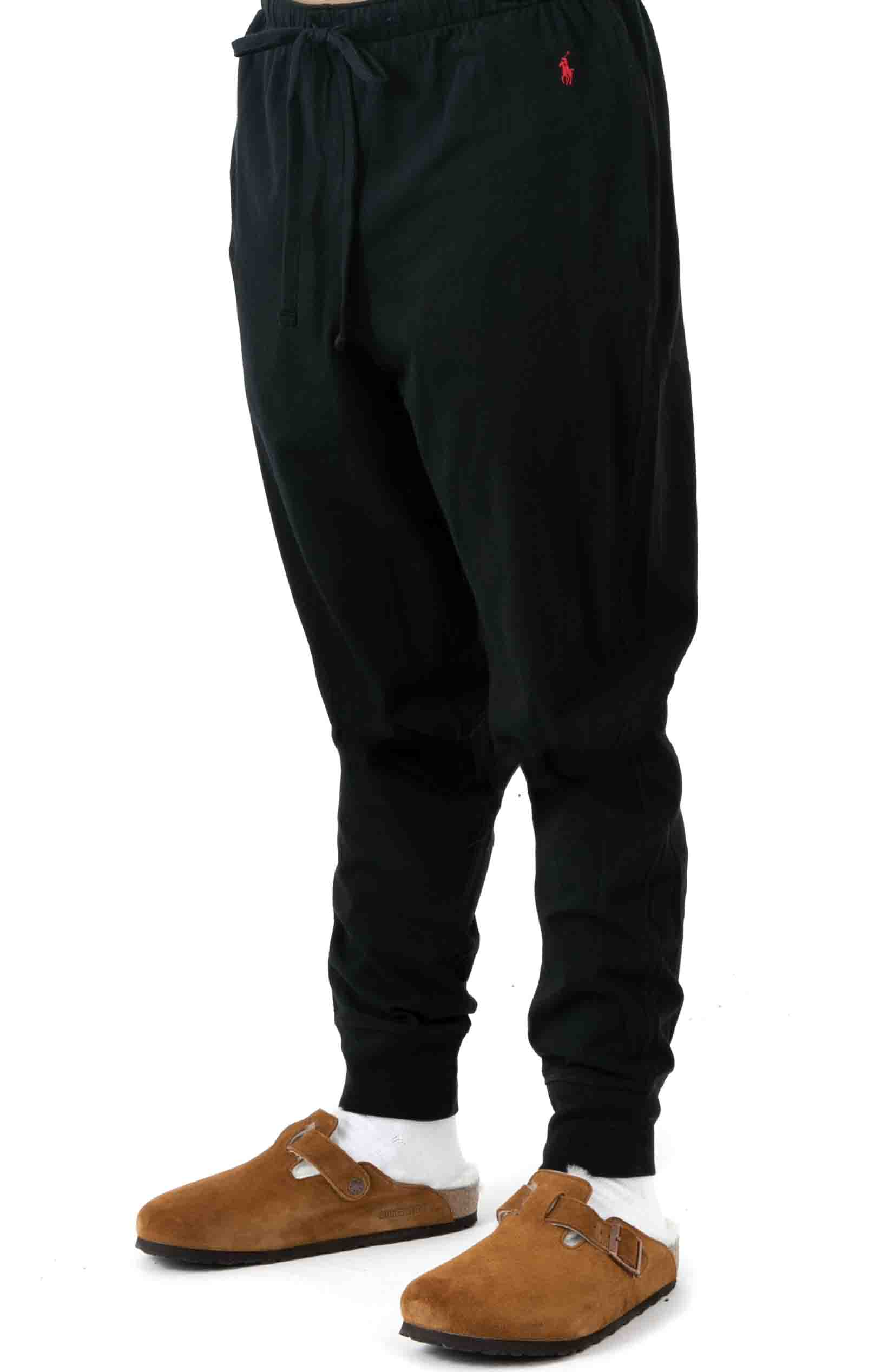 (L204PB) Relaxed Fit Jogger Cuff Sleep Pant - Polo Black