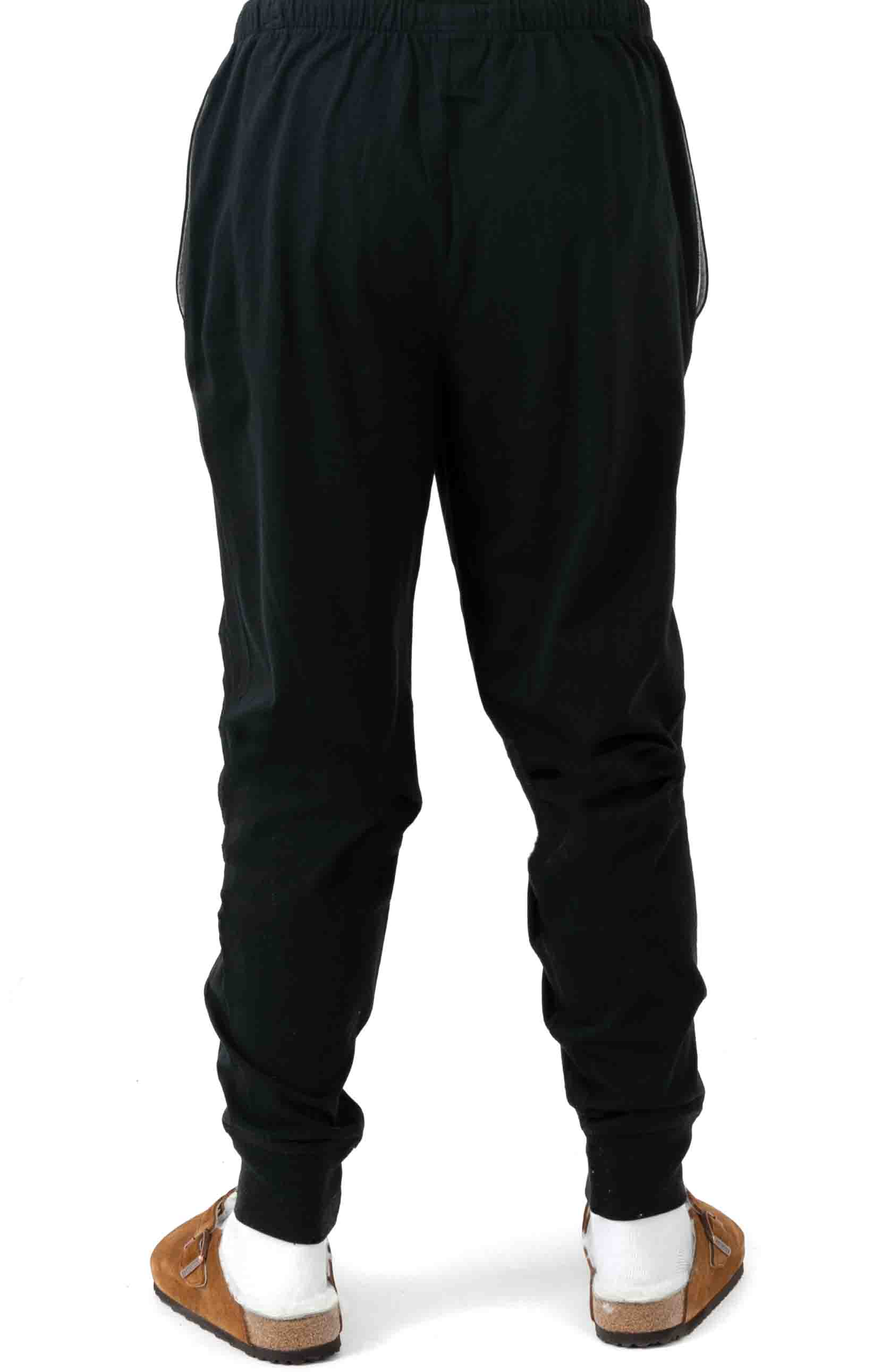 (L204PB) Relaxed Fit Jogger Cuff Sleep Pant - Polo Black  3