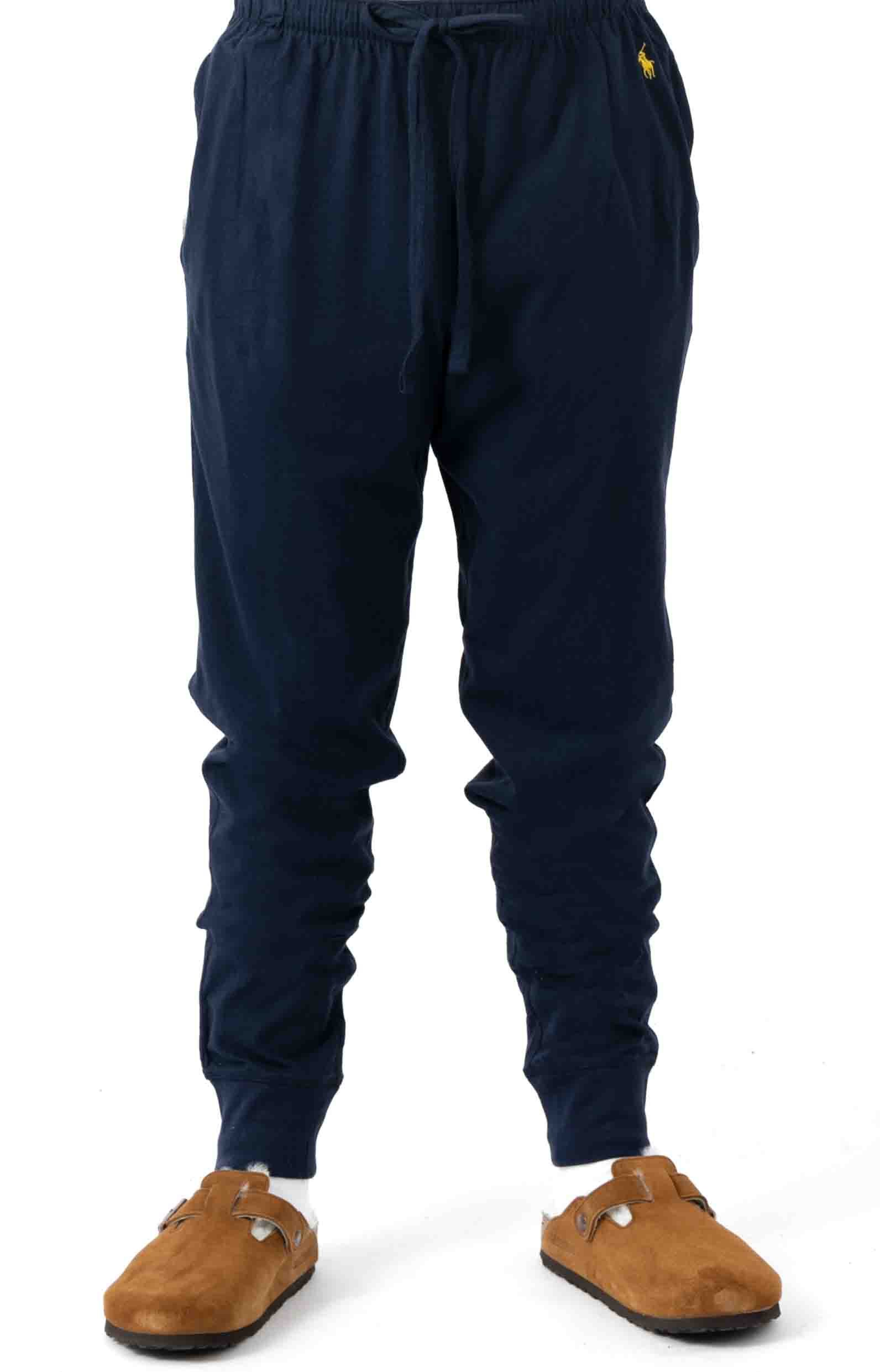 (L2049V) Relaxed Fit Jogger Cuff Sleep Pant - Cruise Navy 2
