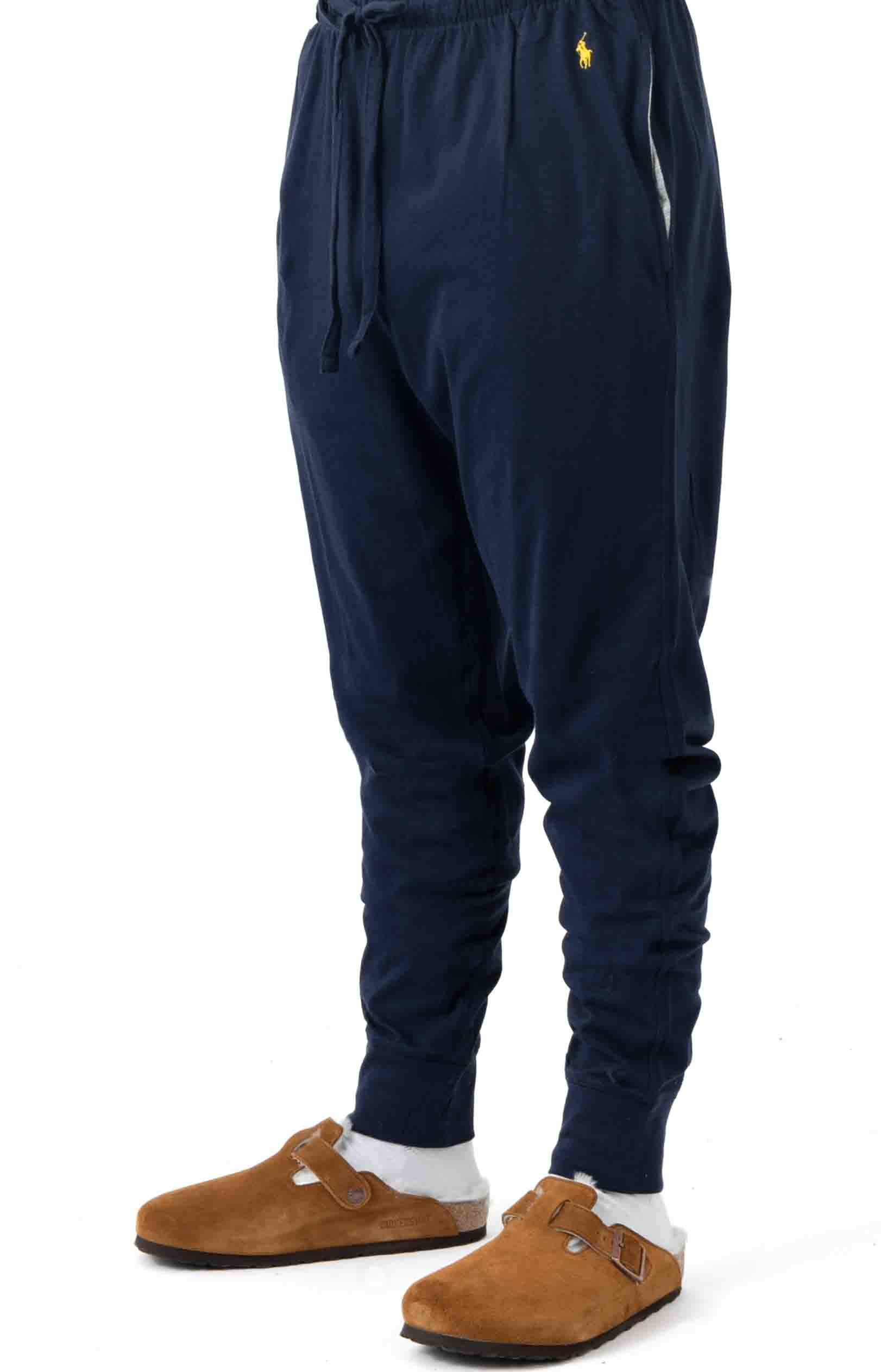 (L2049V) Relaxed Fit Jogger Cuff Sleep Pant - Cruise Navy