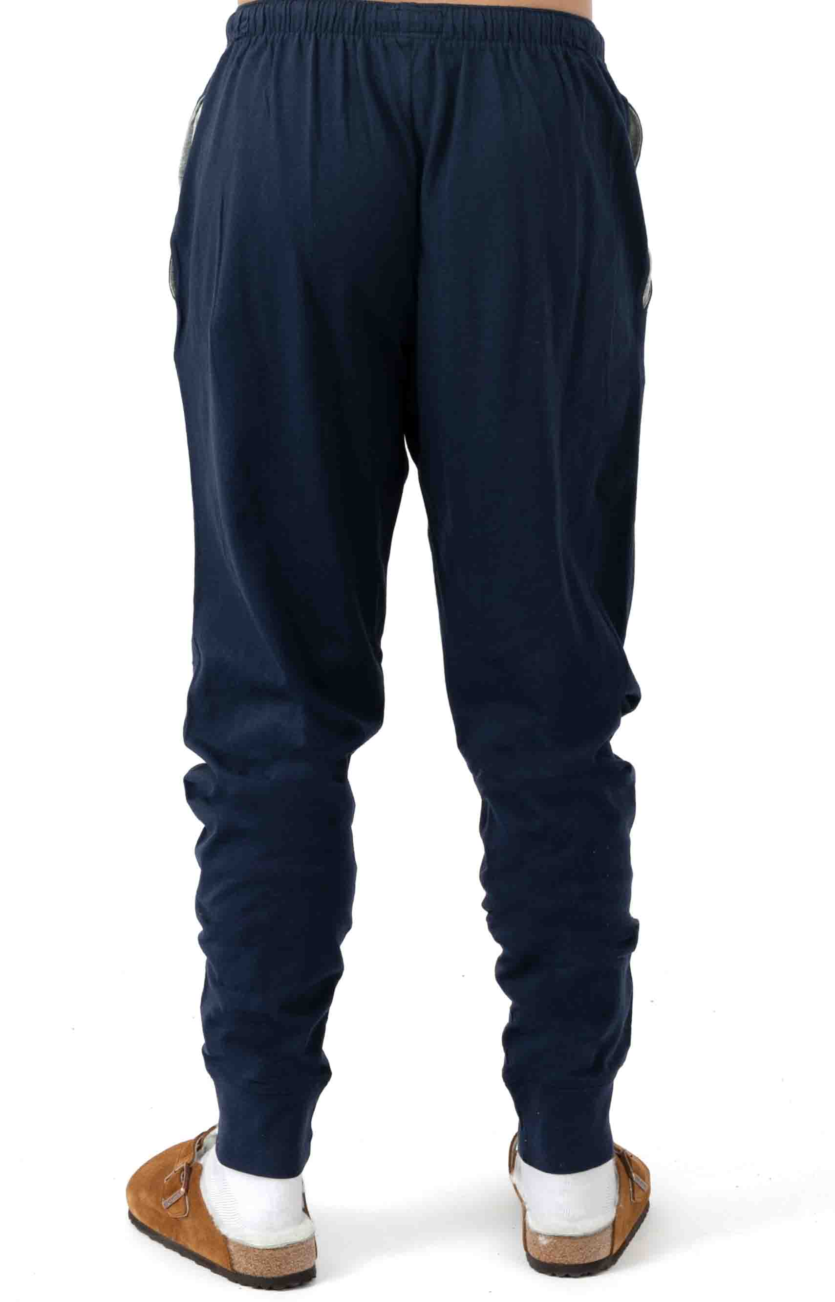 (L2049V) Relaxed Fit Jogger Cuff Sleep Pant - Cruise Navy 3