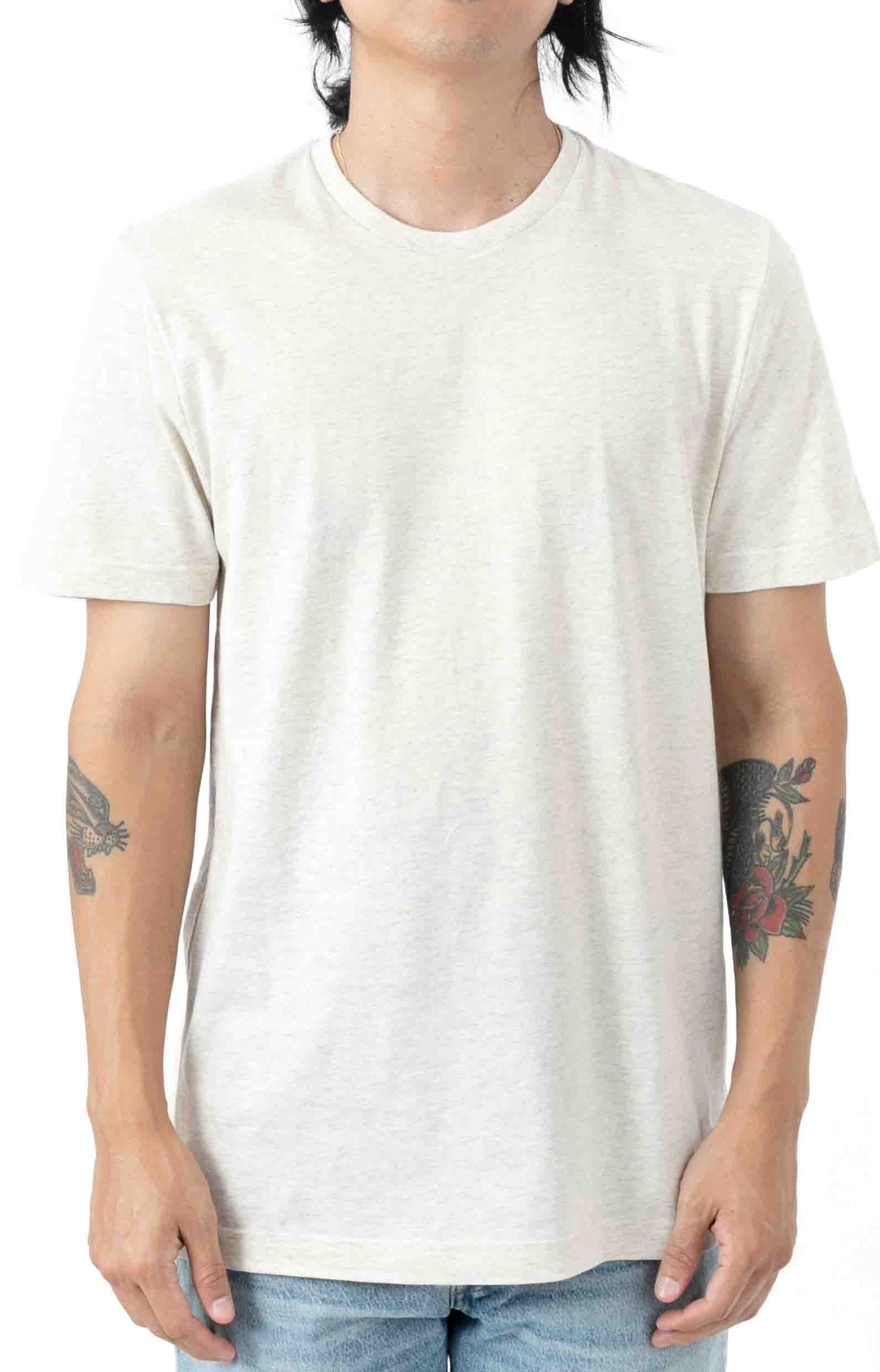 (L163RL) Relaxed Fit Crew T-Shirt - Oxford Heather
