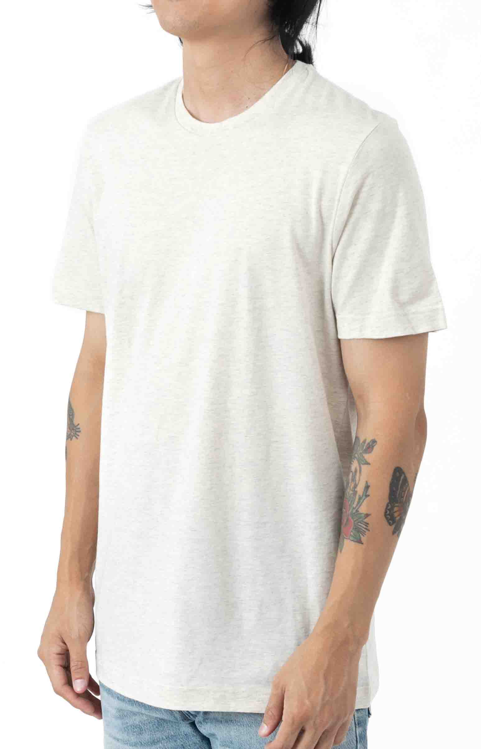 (L163RL) Relaxed Fit Crew T-Shirt - Oxford Heather  2