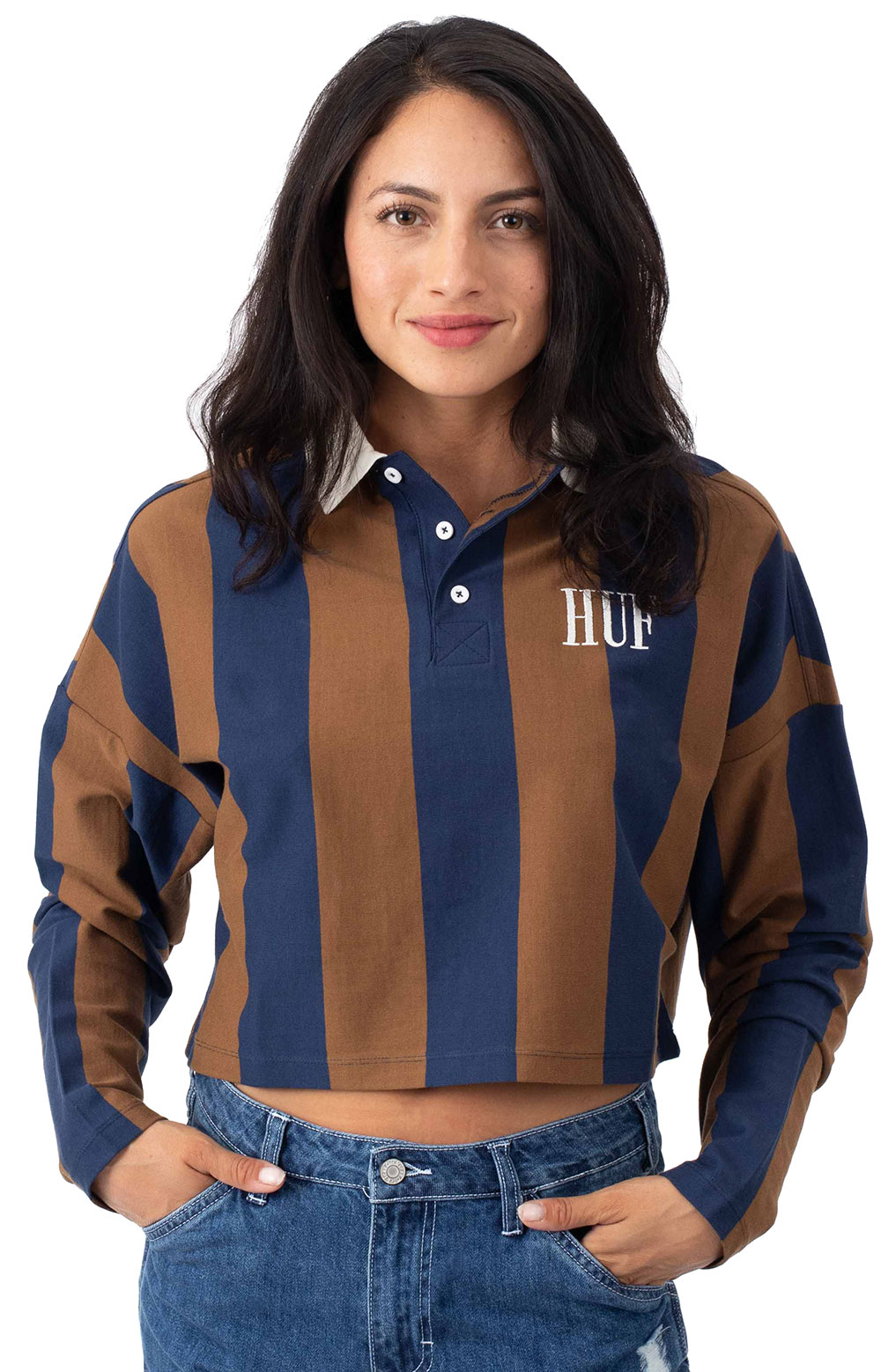 Marka Crop L/S Polo - Toffee