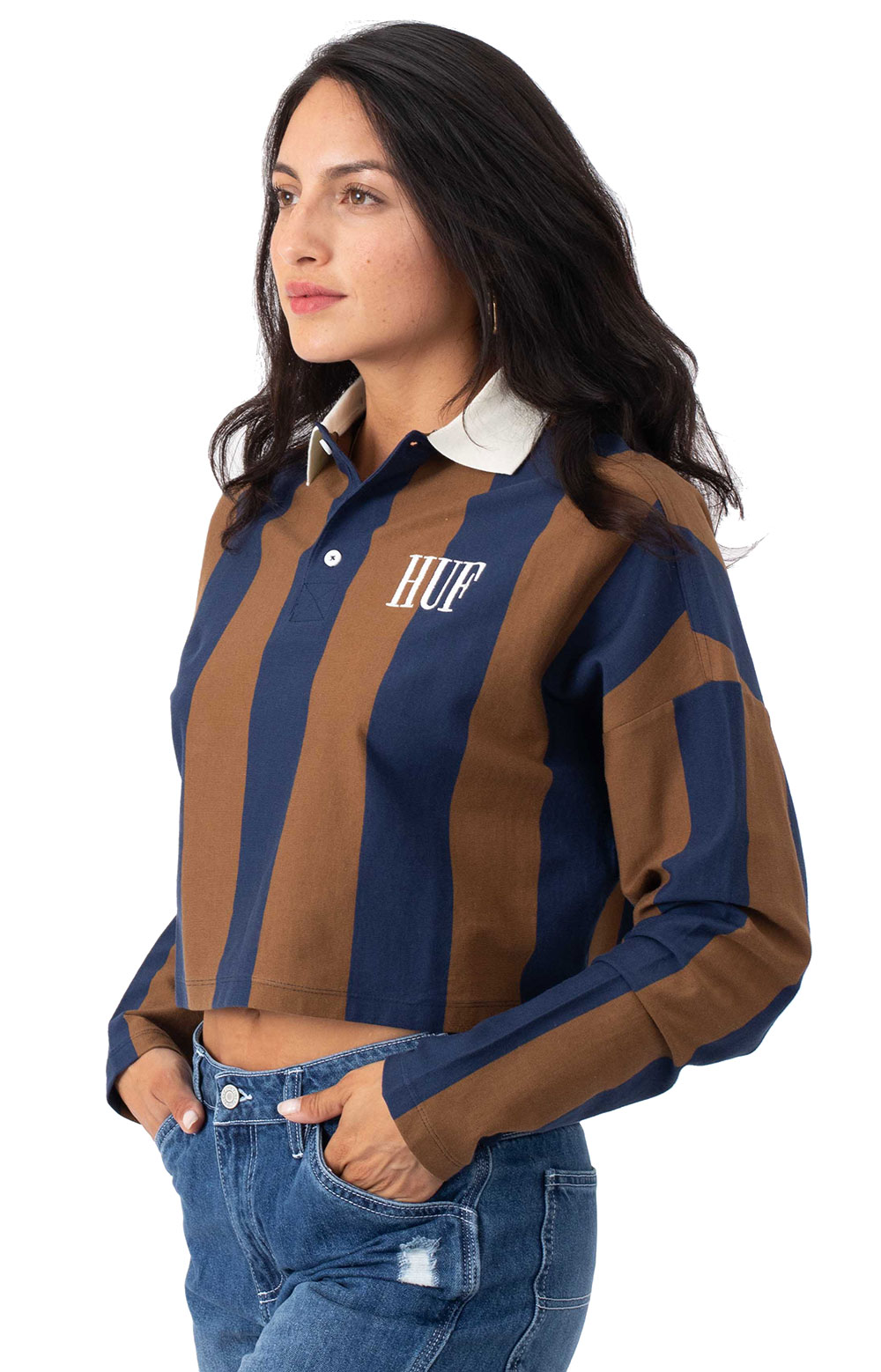 Marka Crop L/S Polo - Toffee 2
